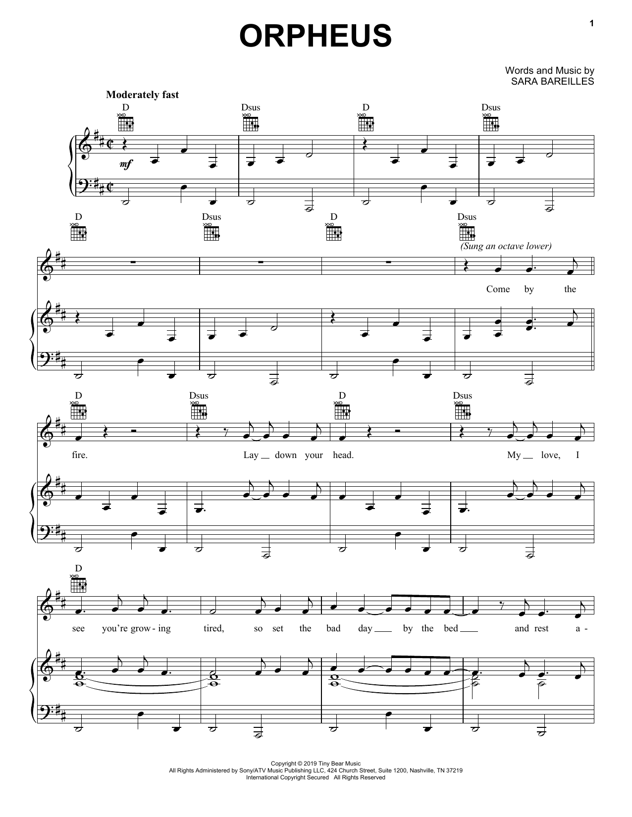 Orpheus (Piano, Vocal & Guitar (Right-Hand Melody))
