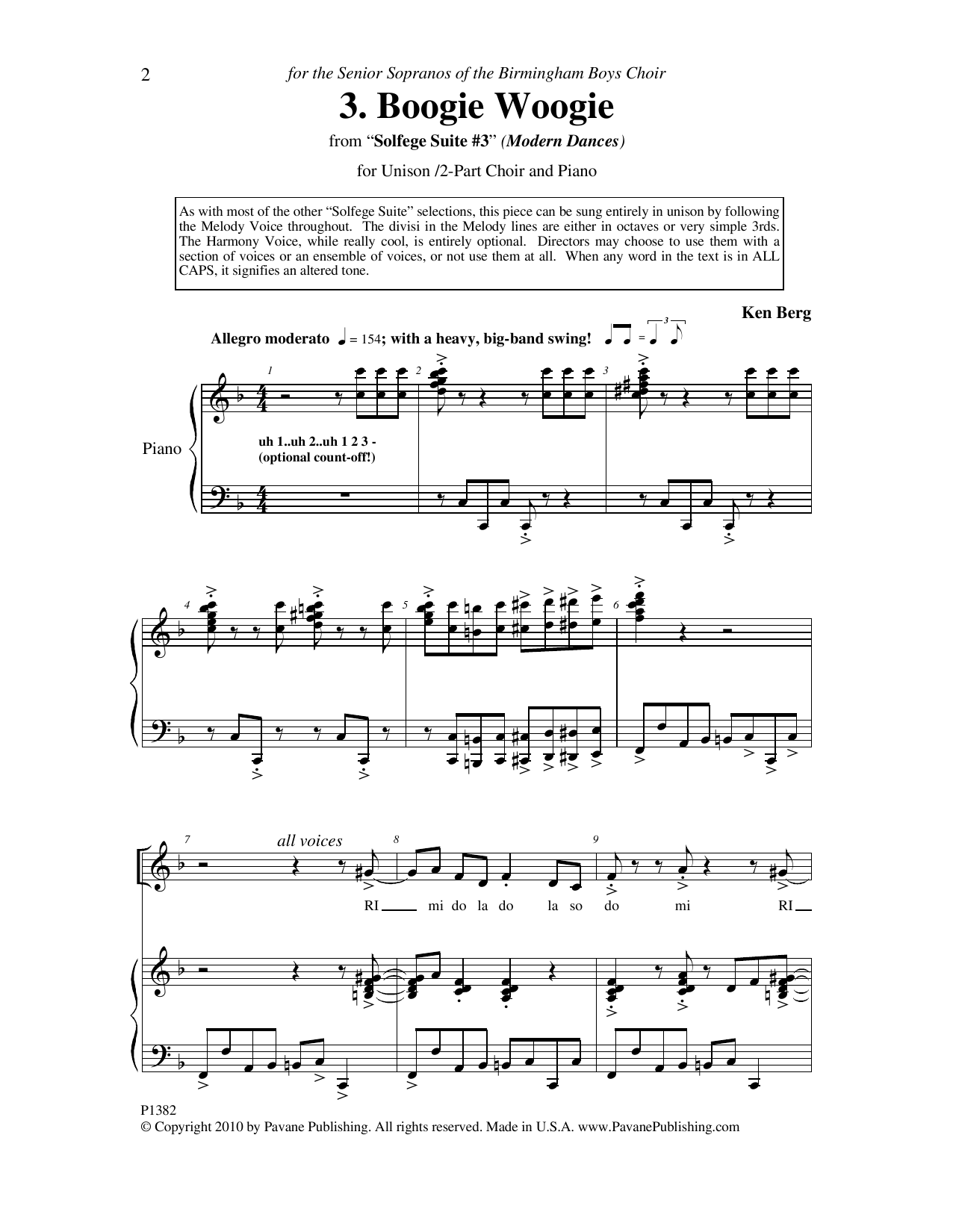 "Boogie Woogie (from ""Solfege Suite #3"") Sheet Music"