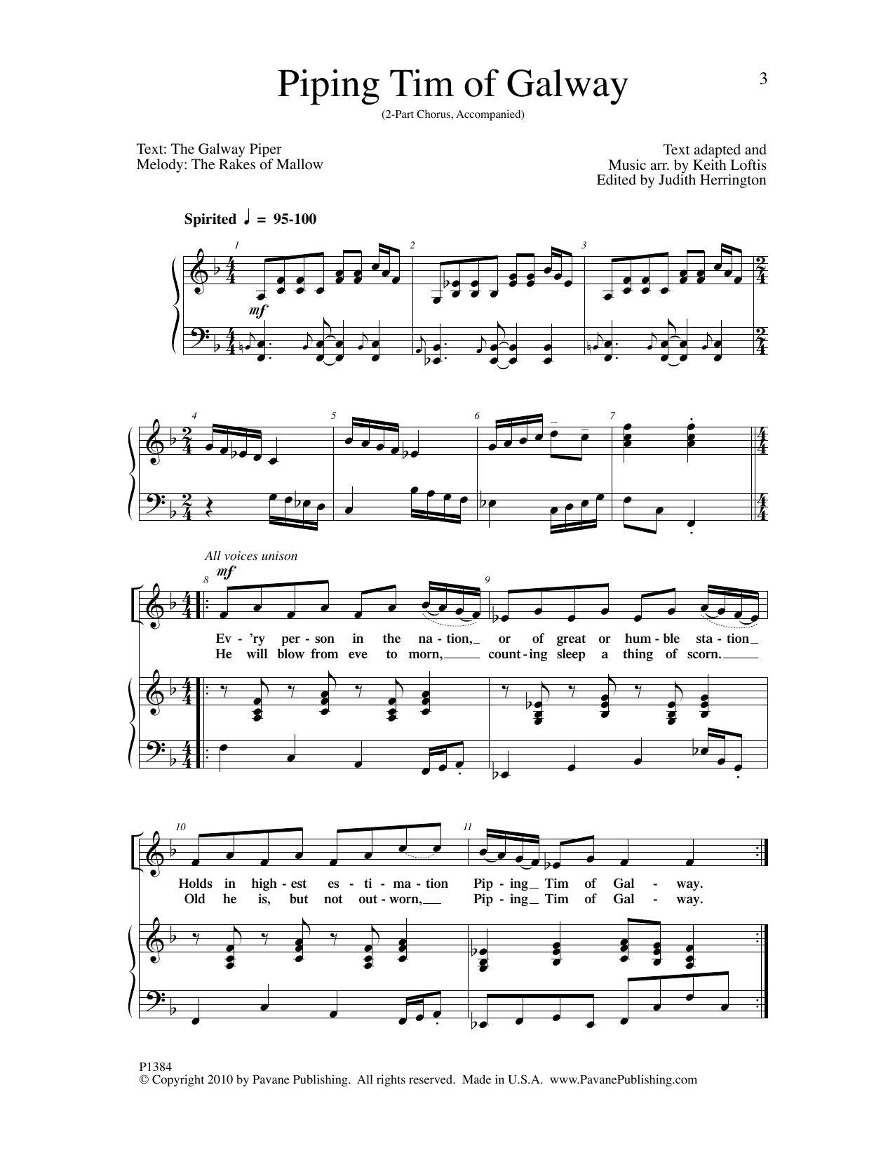 Piping Tim of Galway Sheet Music