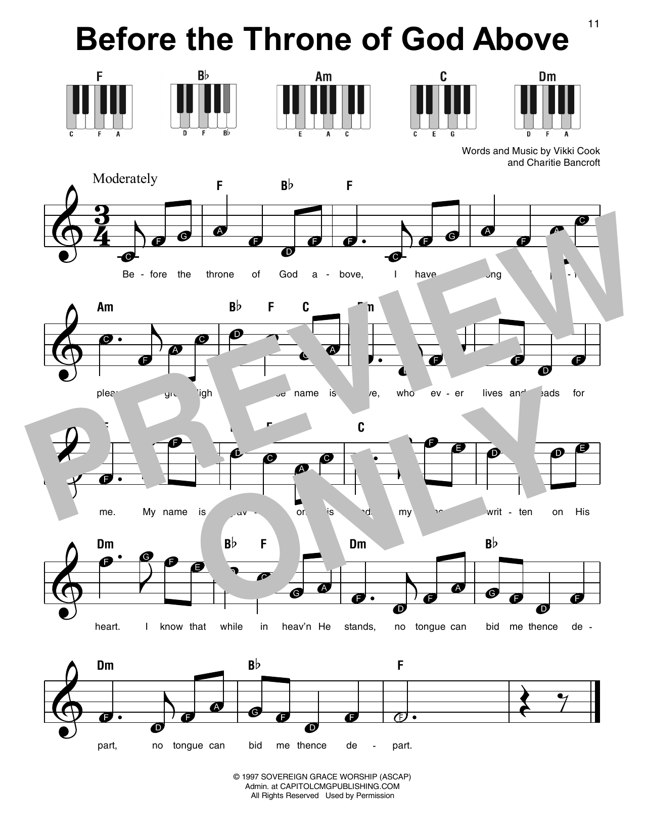 Before The Throne Of God Above (Super Easy Piano)