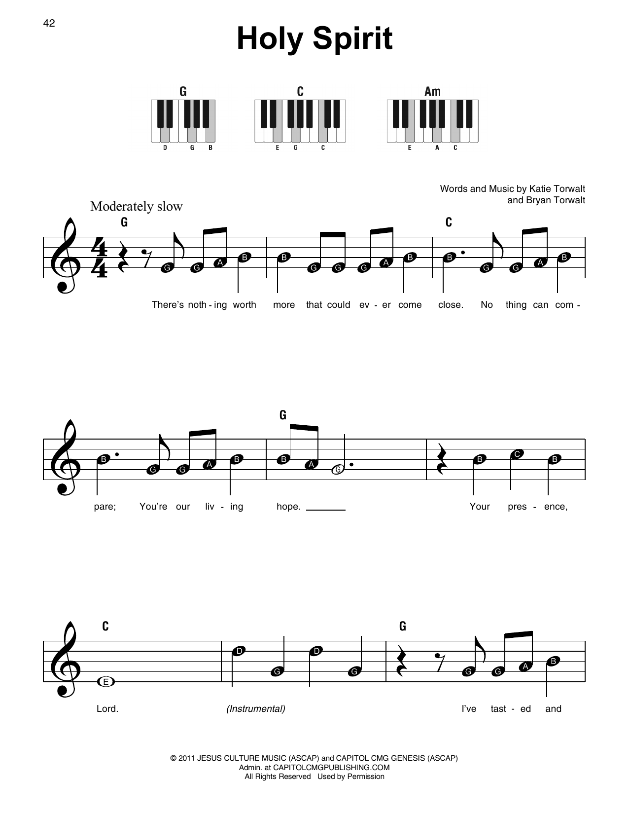 Holy Spirit (Super Easy Piano)