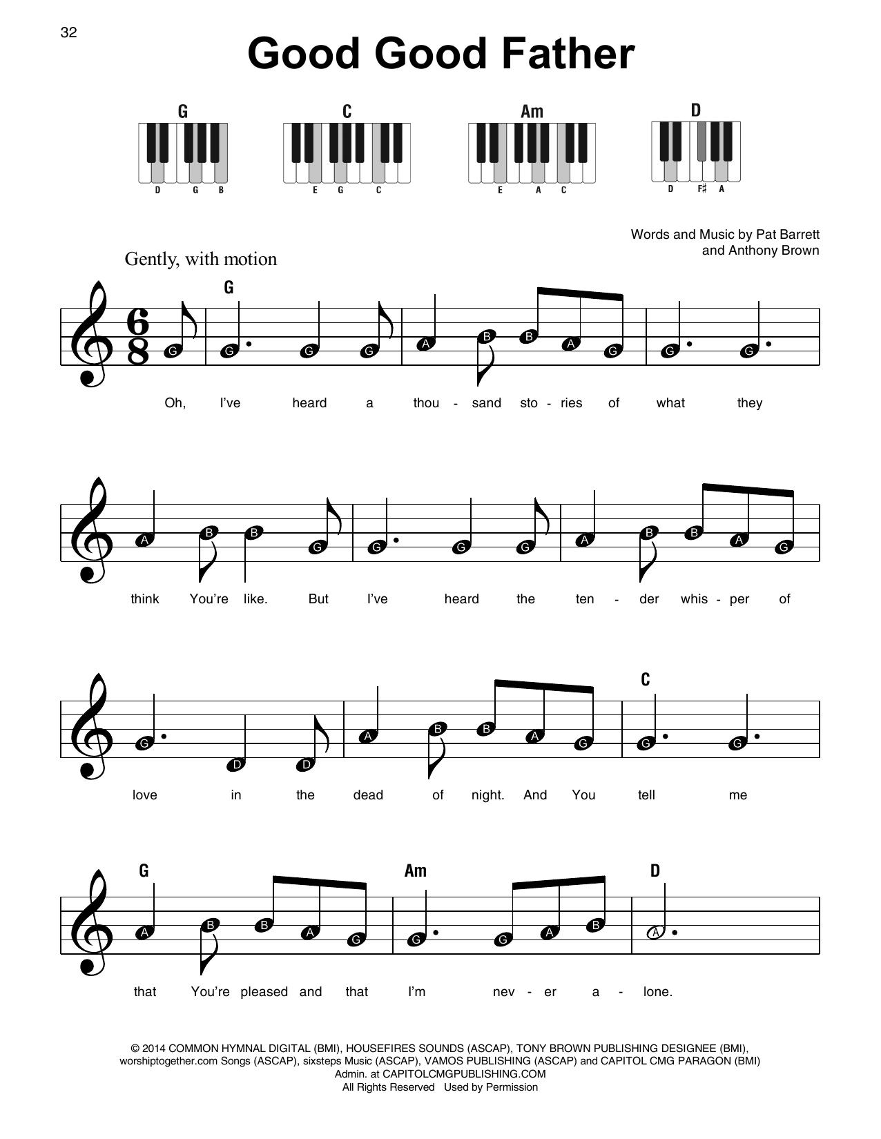 Good Good Father (Super Easy Piano)