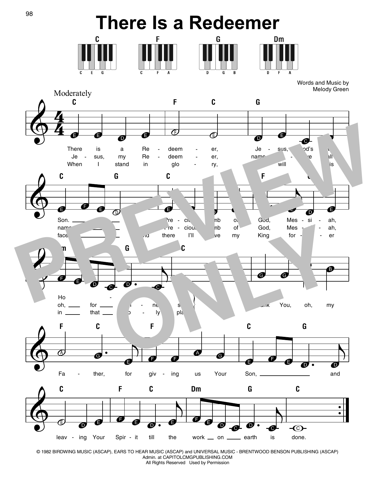 There Is A Redeemer (Super Easy Piano)