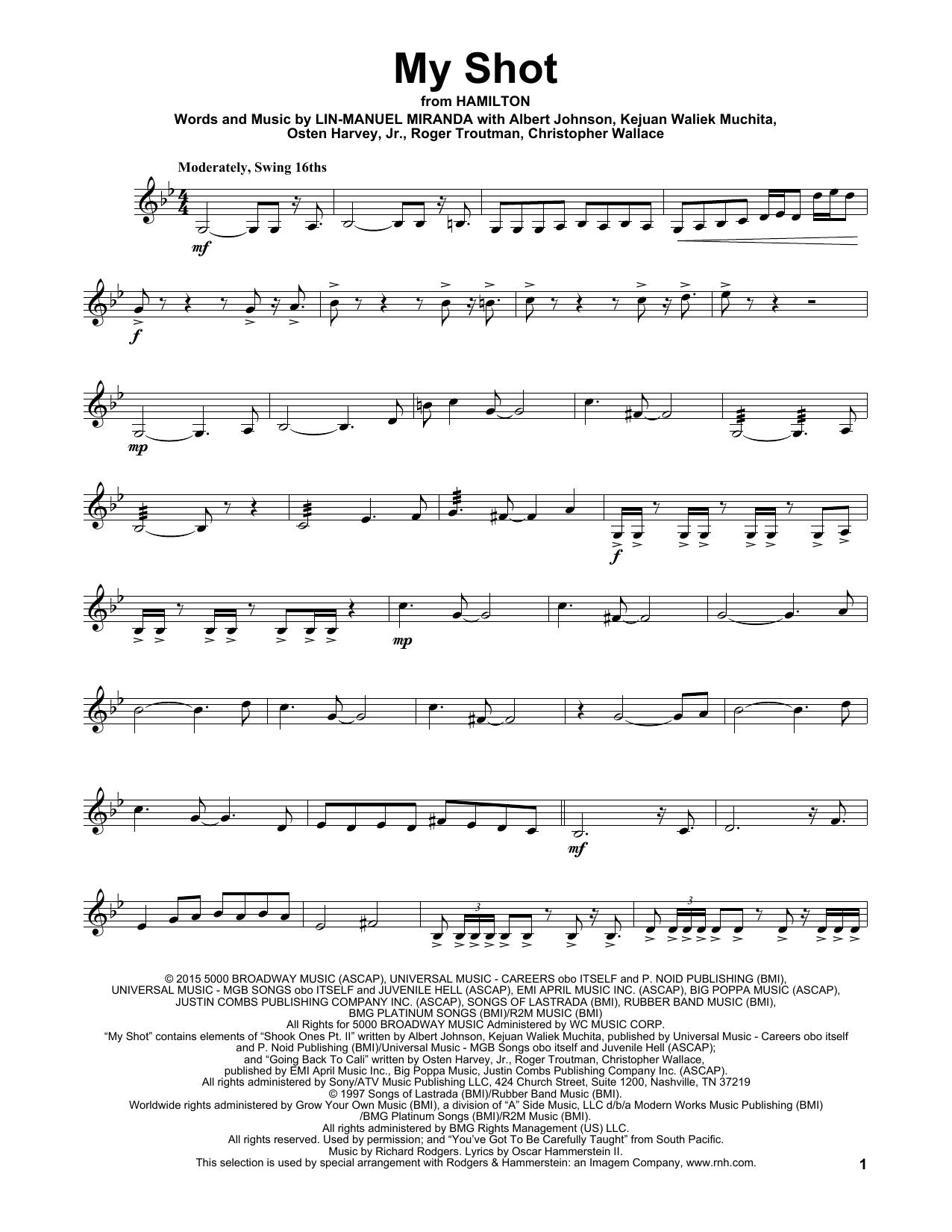 My Shot (from Hamilton) (Violin Solo)