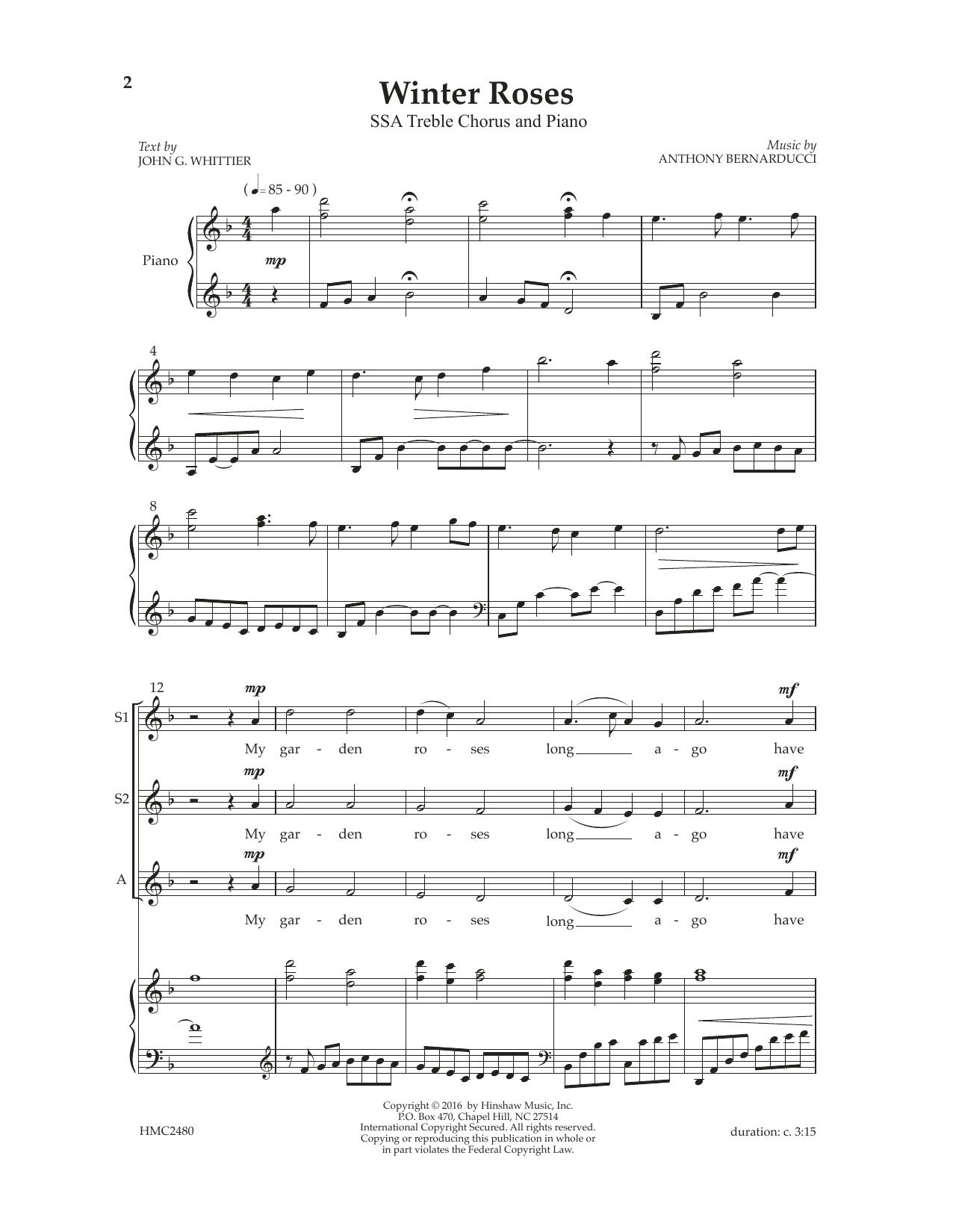 Winter Roses Sheet Music