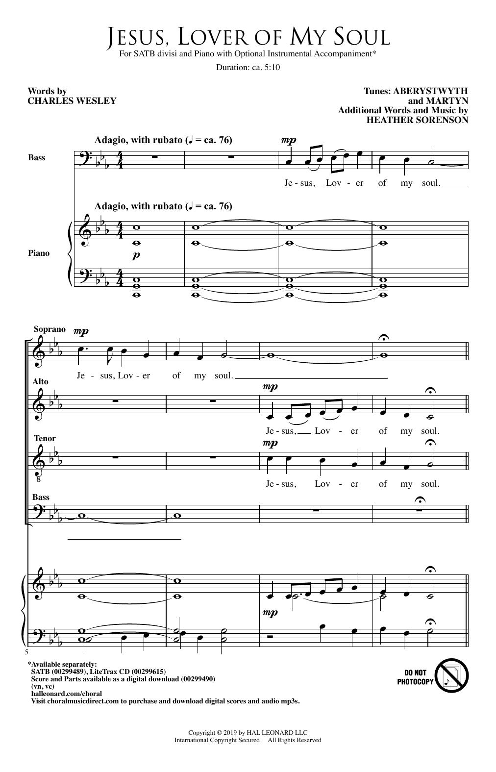 Jesus, Lover Of My Soul (SATB Choir)