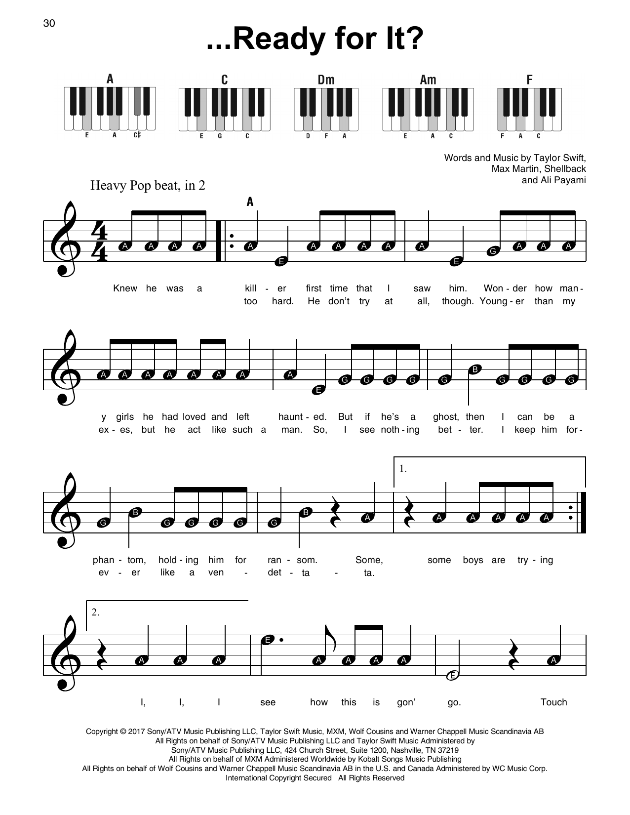 ...Ready For It? (Super Easy Piano)