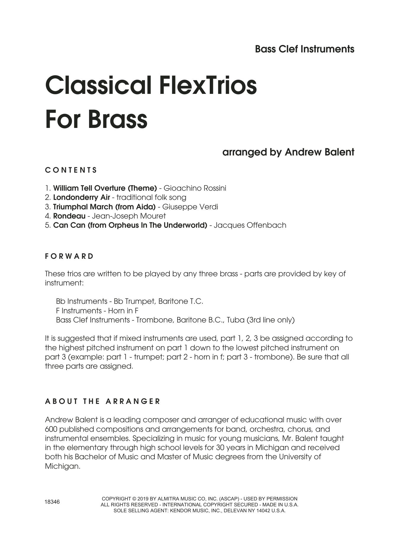 Classical Flextrios For Brass (arr. Andrew Balent) - C Bass Clef Sheet Music