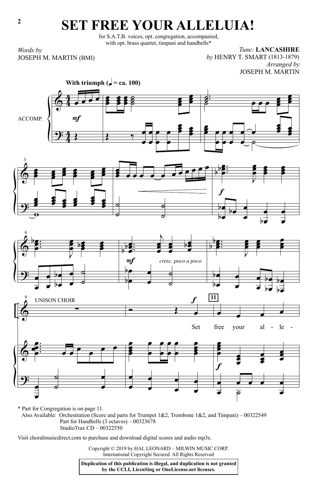 Set Free Your Alleluia! (SATB Choir)