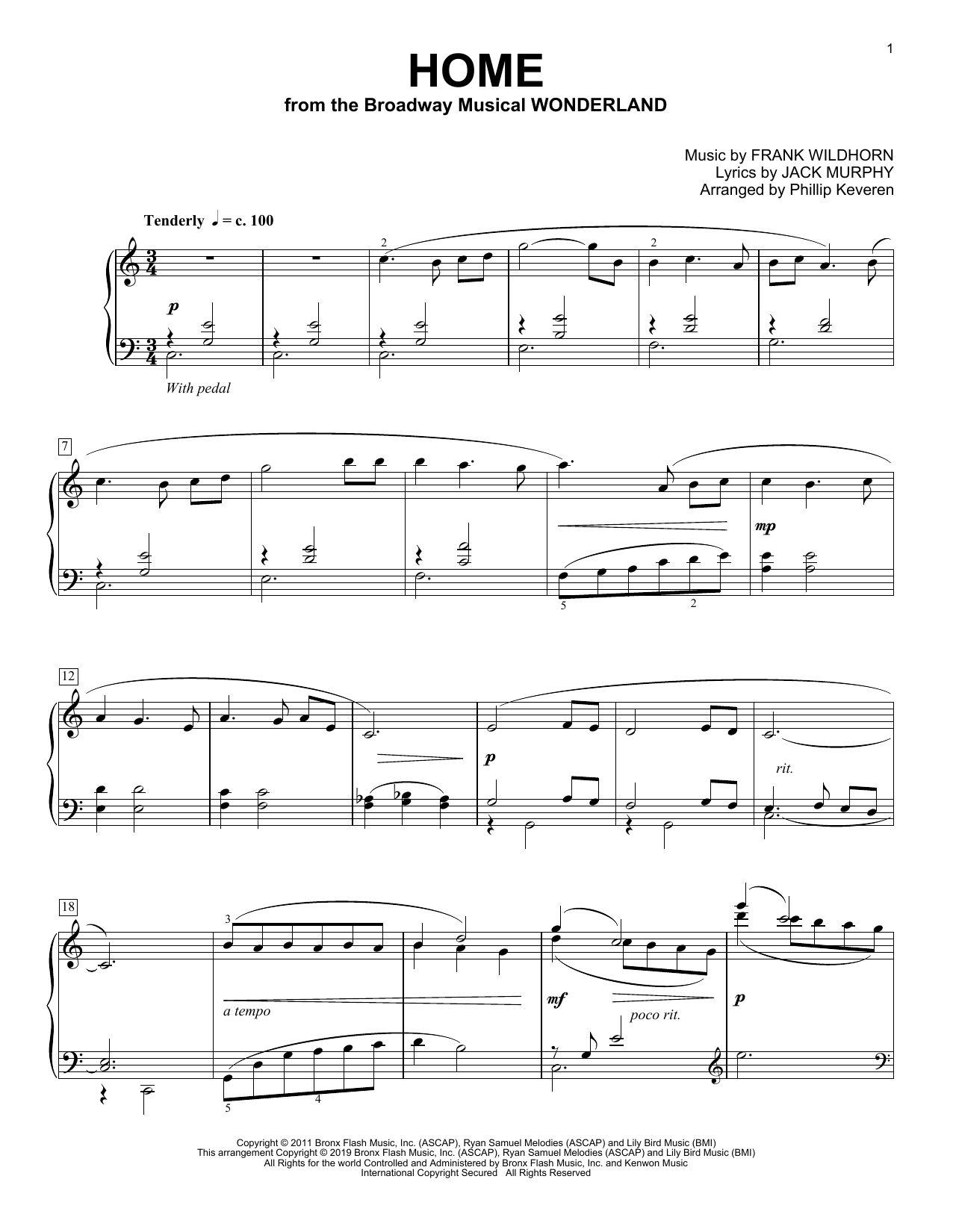 Home [Classical version] (from Wonderland) (arr. Phillip Keveren) (Piano Solo)