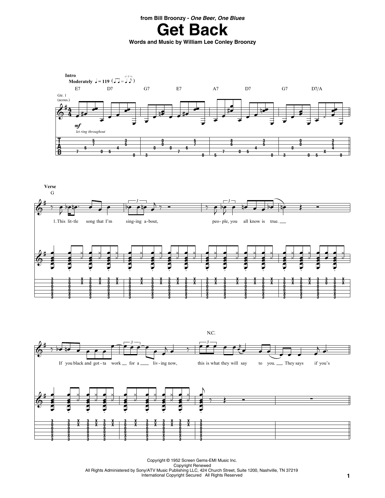 Get Back (Guitar Tab)