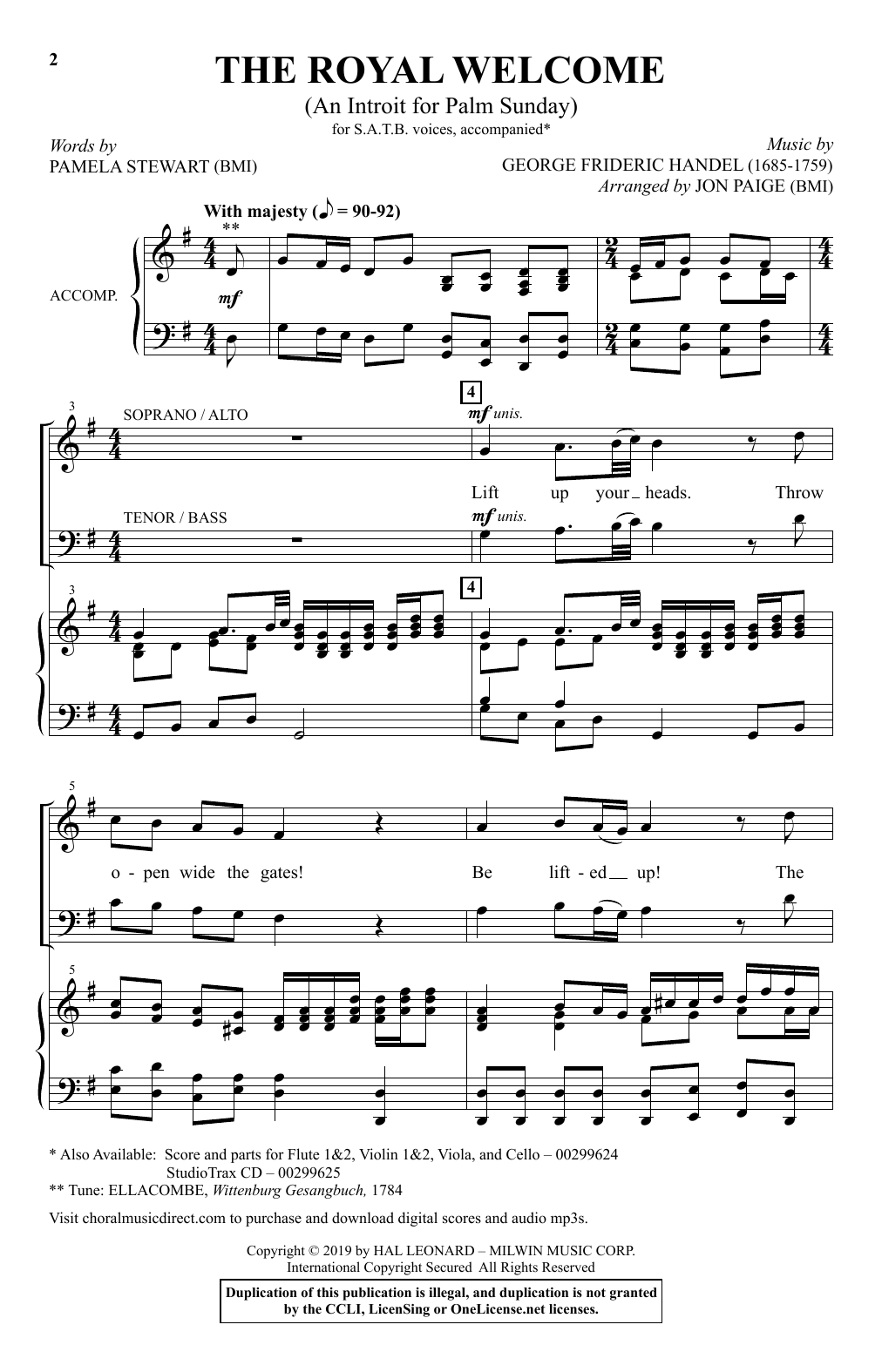 The Royal Welcome (An Introit For Palm Sunday) (arr. John Paige) Partituras Digitales