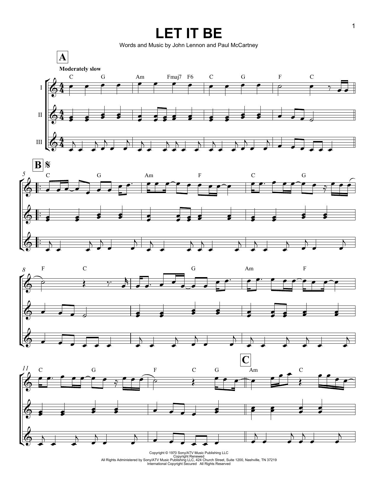 Let It Be (Ukulele Ensemble)