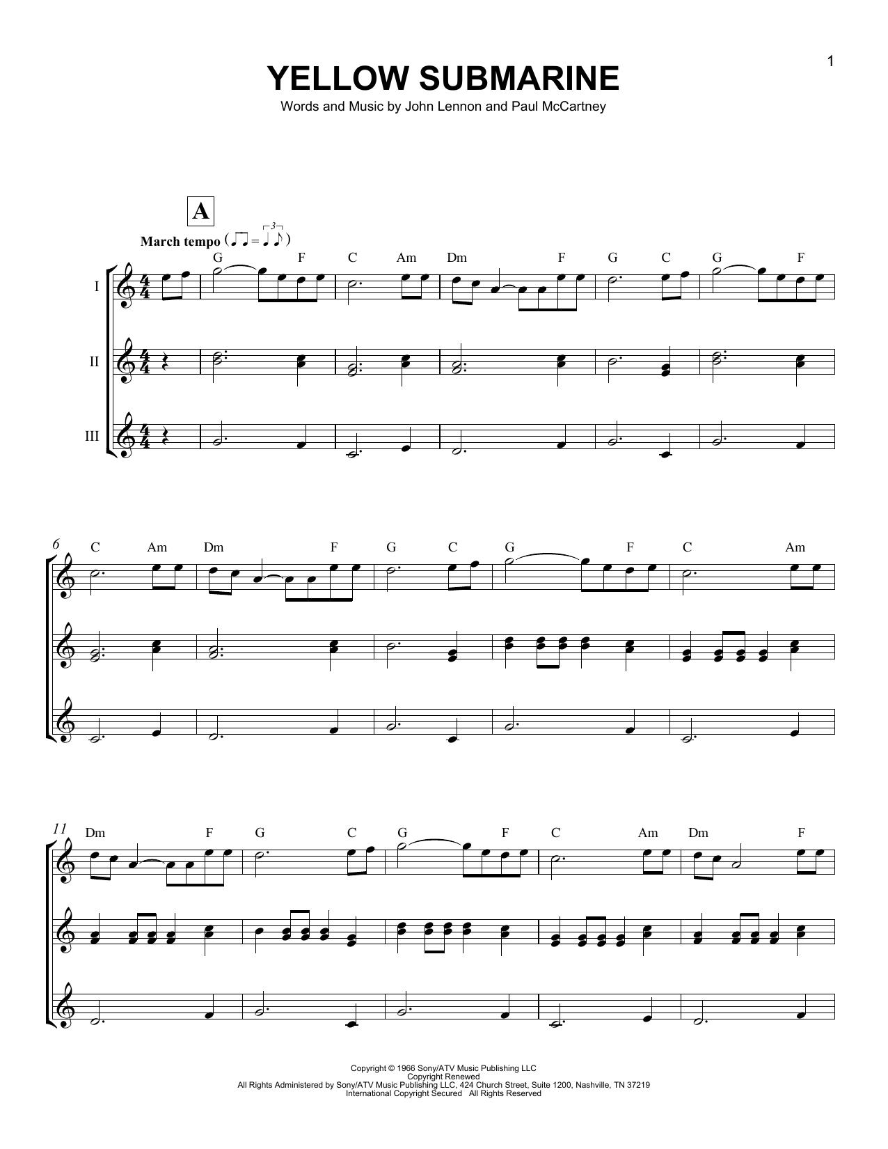 Yellow Submarine (Ukulele Ensemble)