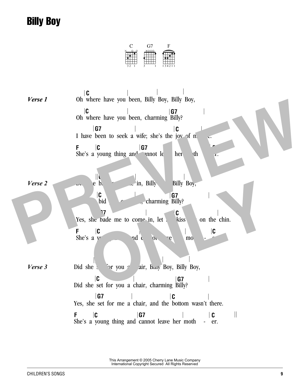 Billy Boy Sheet Music