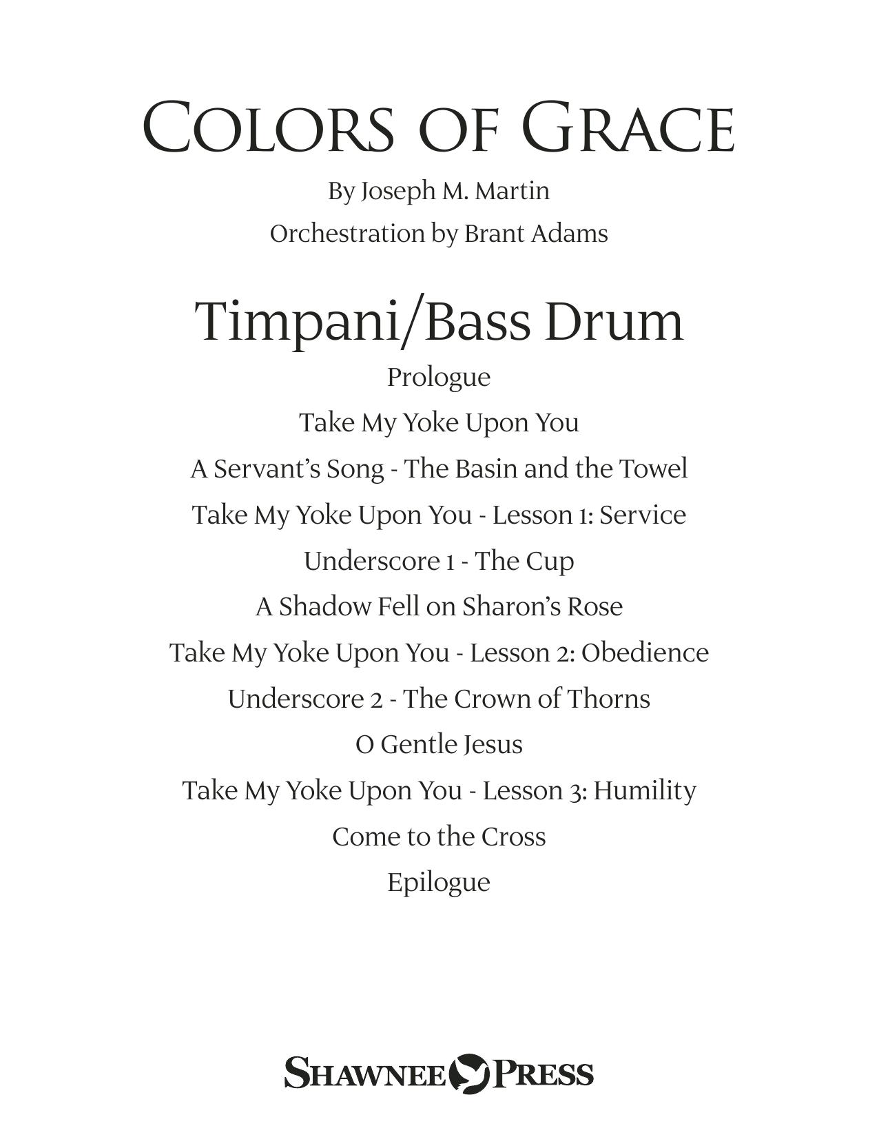 Colors of Grace - Lessons for Lent (New Edition) (Orchestra Accompaniment) - Timpani (Choir Instrumental Pak)