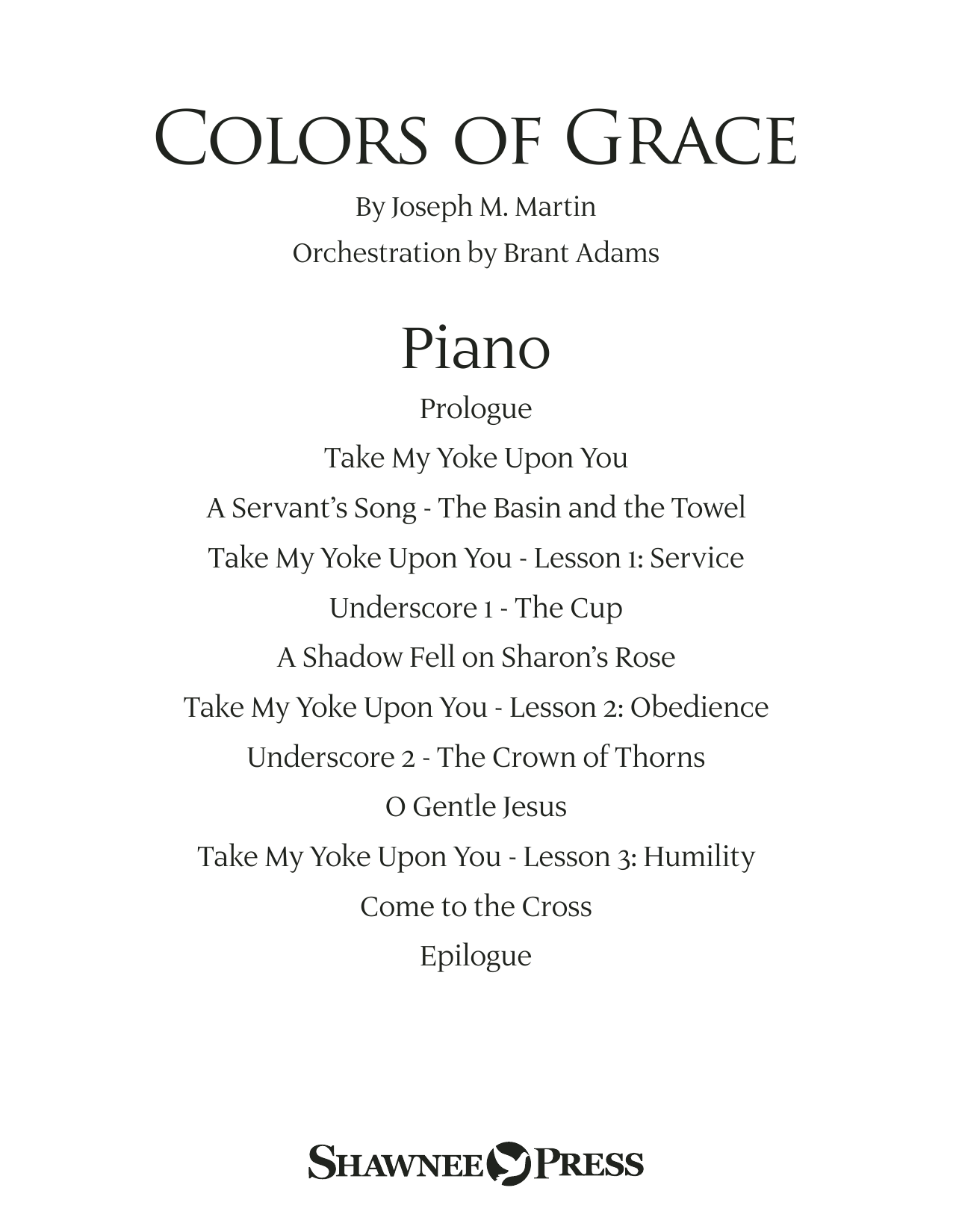 Colors of Grace - Lessons for Lent (New Edition) (Orchestra Accompaniment) - Piano Sheet Music