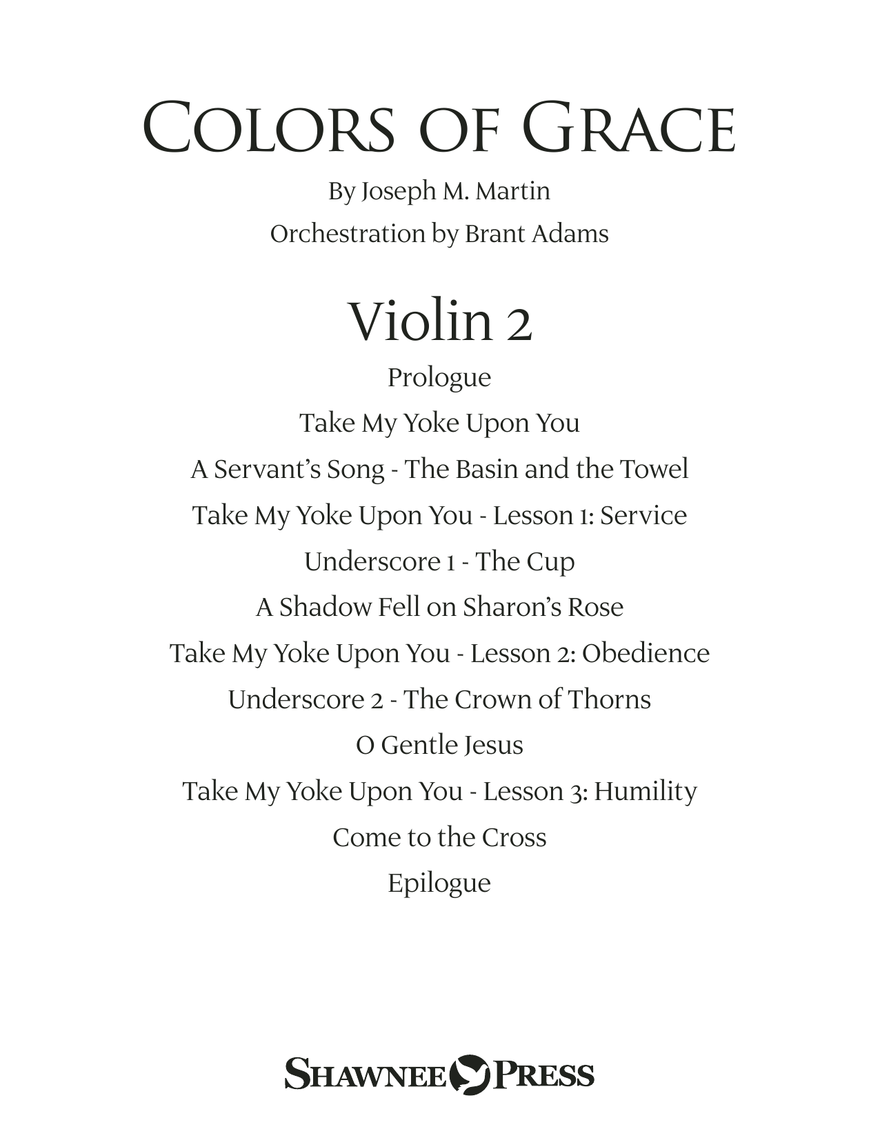 Colors of Grace - Lessons for Lent (New Edition) (Orchestra Accompaniment) - Violin 2 (Choir Instrumental Pak)