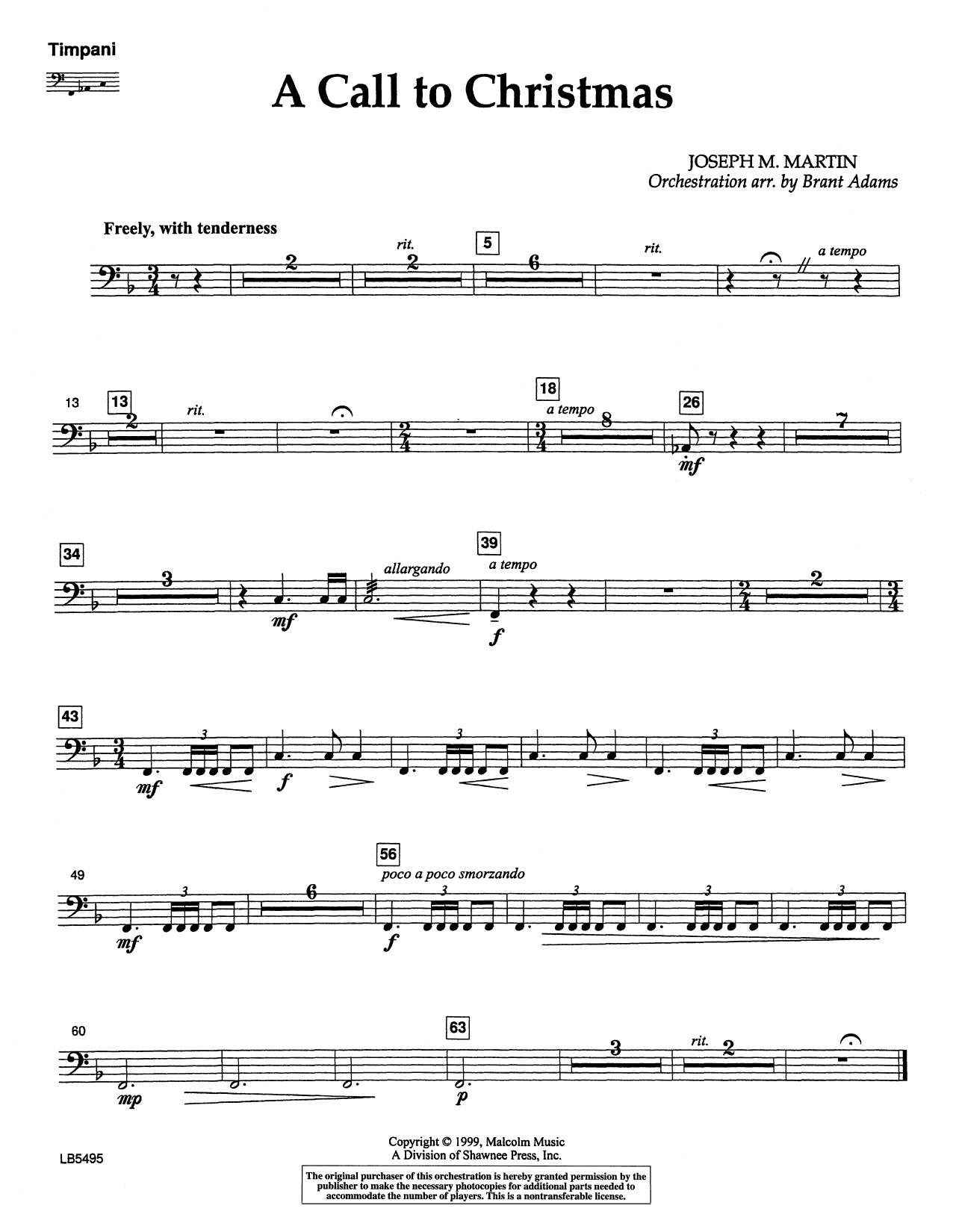 Canticle Of Joy - Timpani Sheet Music