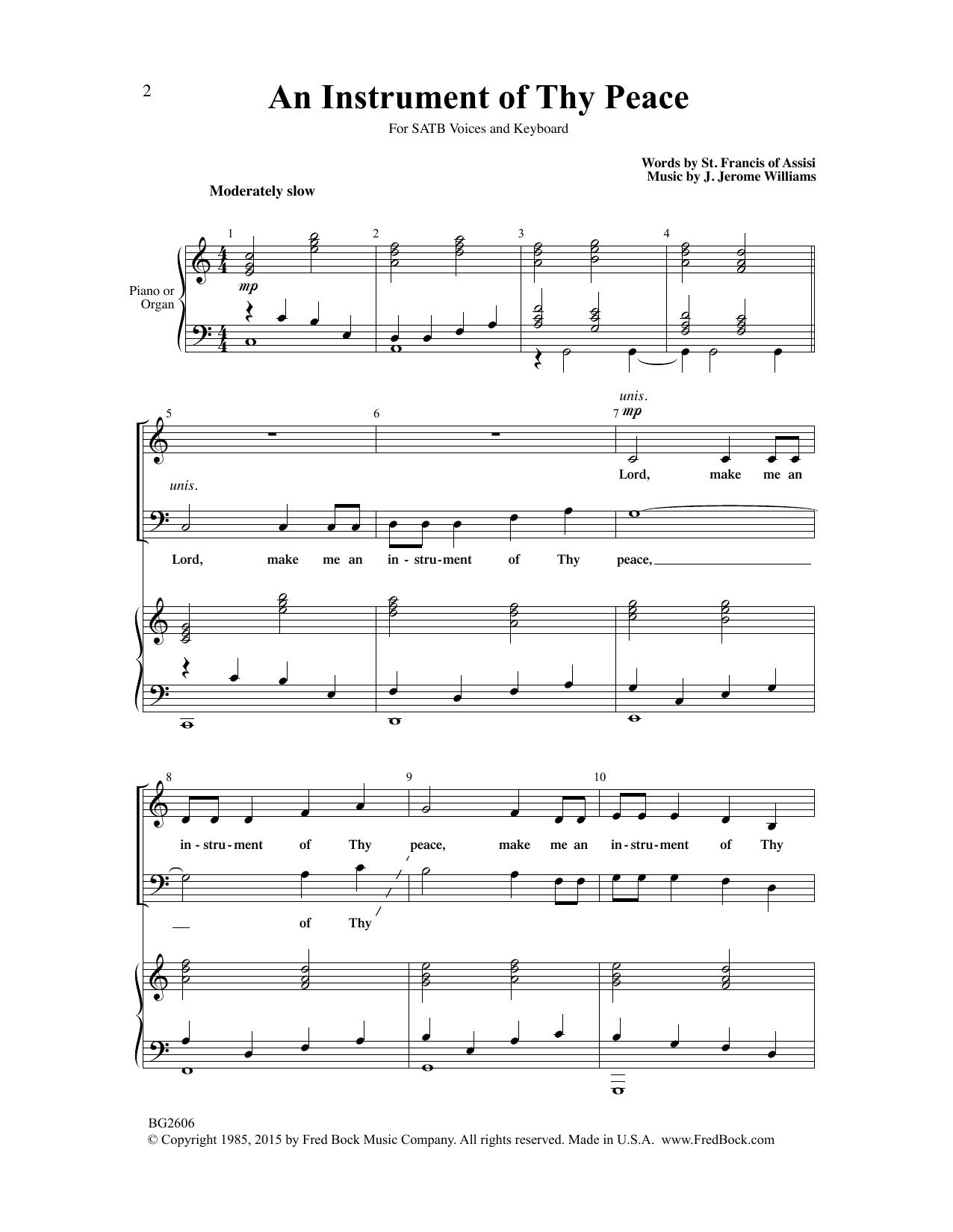 An Instrument Of Thy Peace Sheet Music