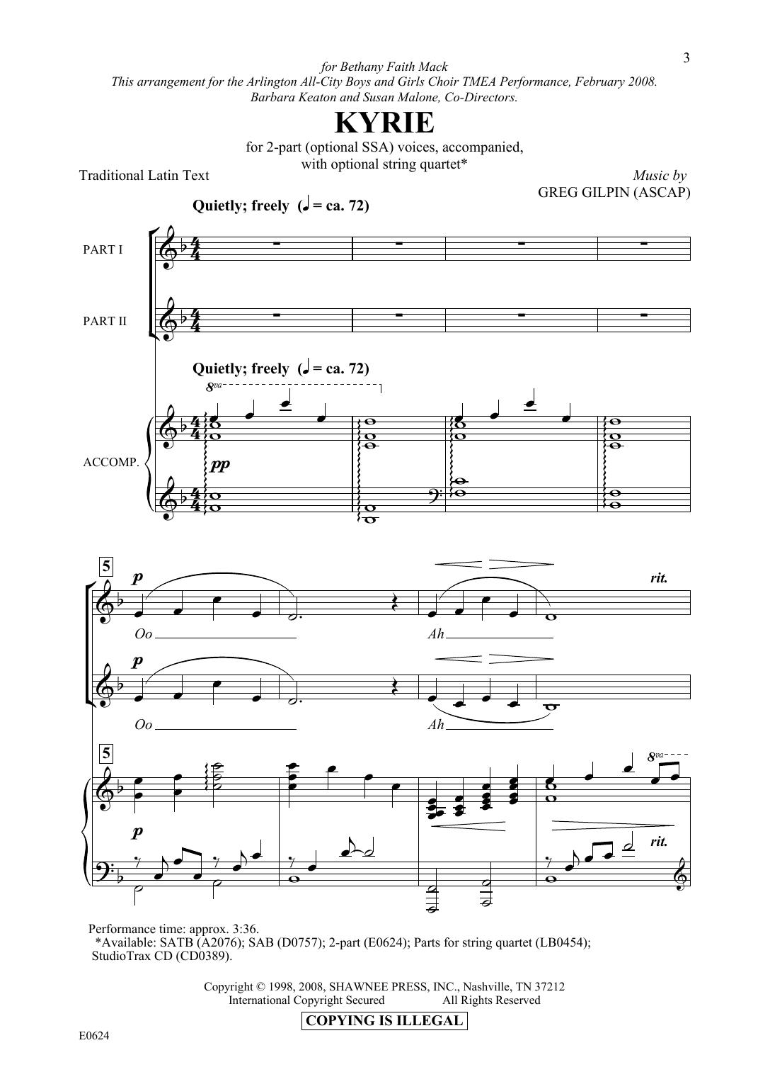 Kyrie (2-Part Choir)