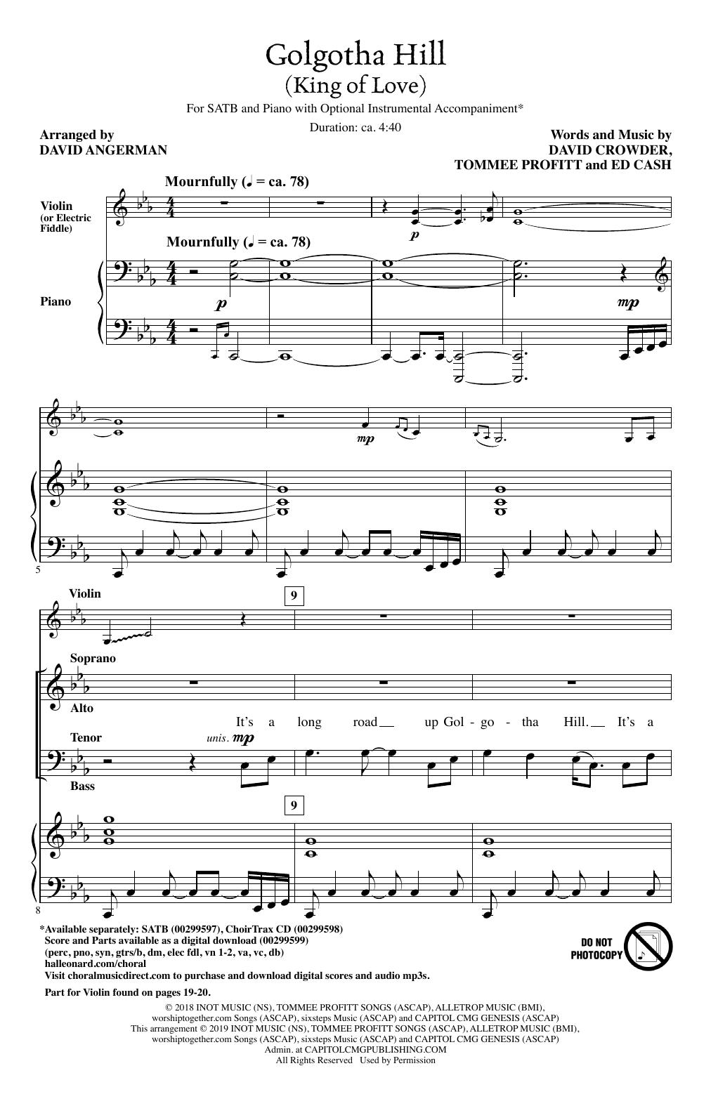Golgotha Hill (King Of Love) (arr. David Angerman) (SATB Choir)