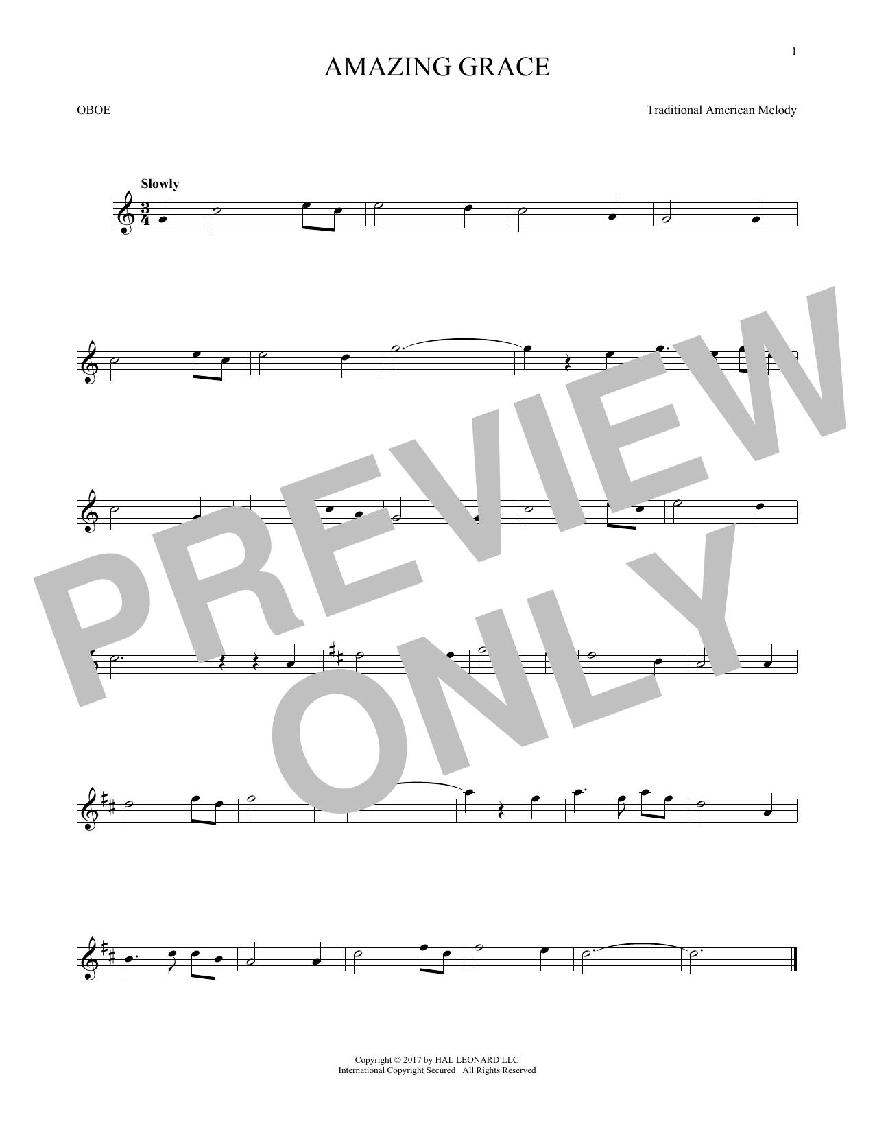 Amazing Grace (Oboe Solo)