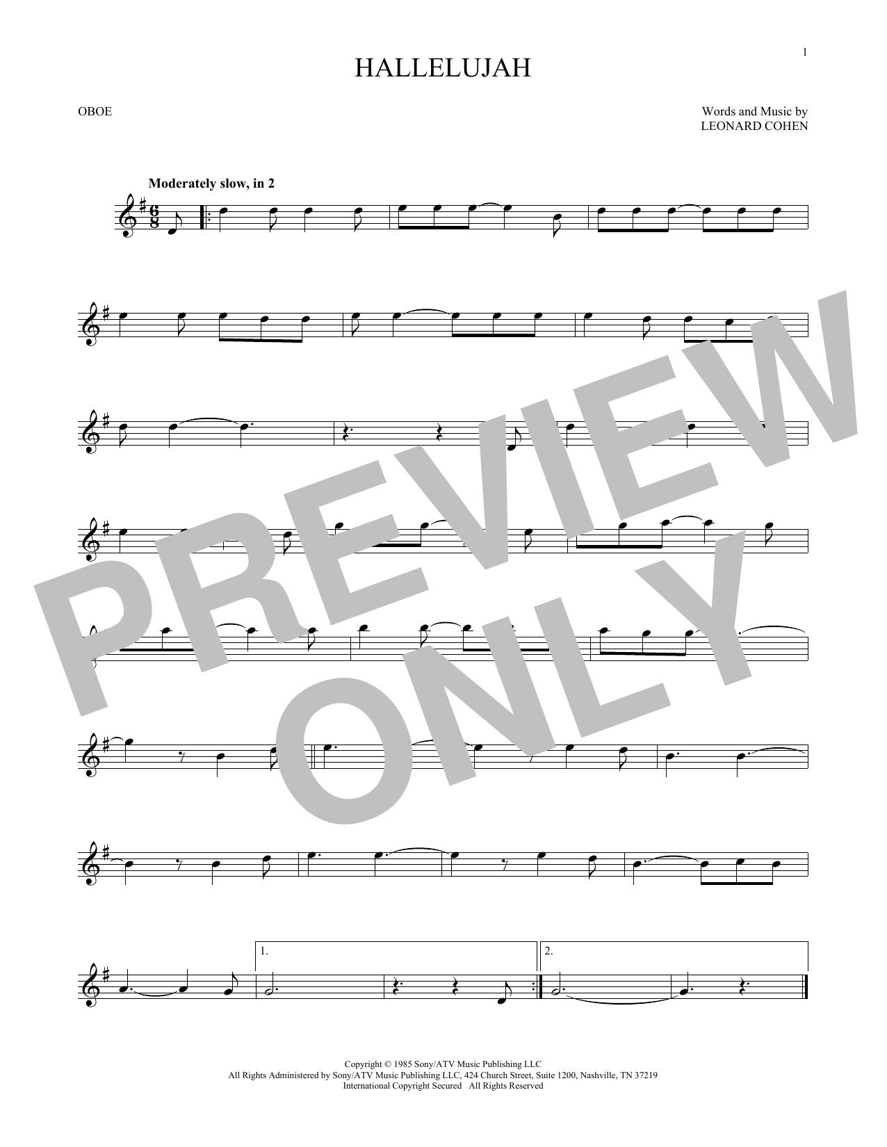 Hallelujah (Oboe Solo)