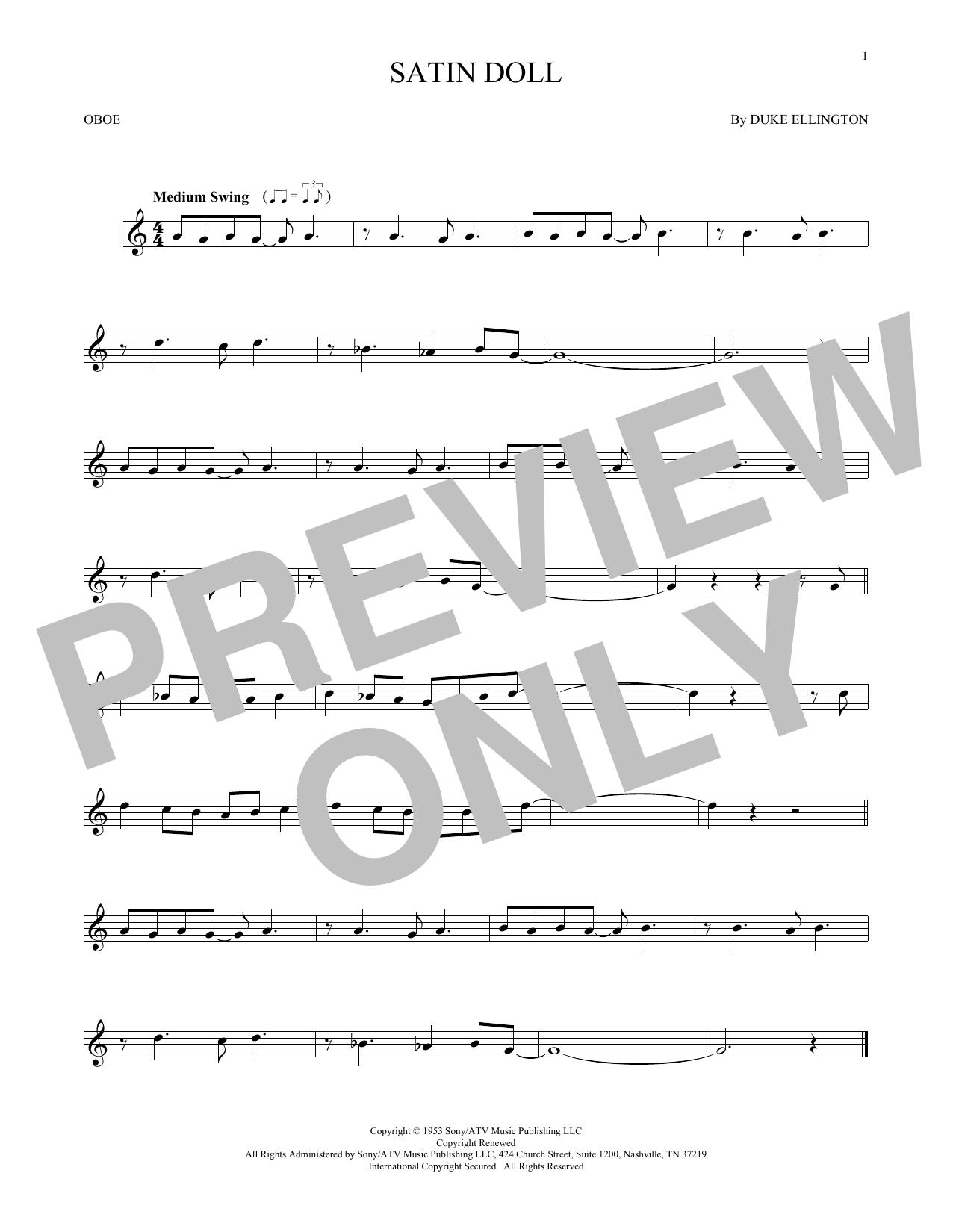Satin Doll (Oboe Solo)