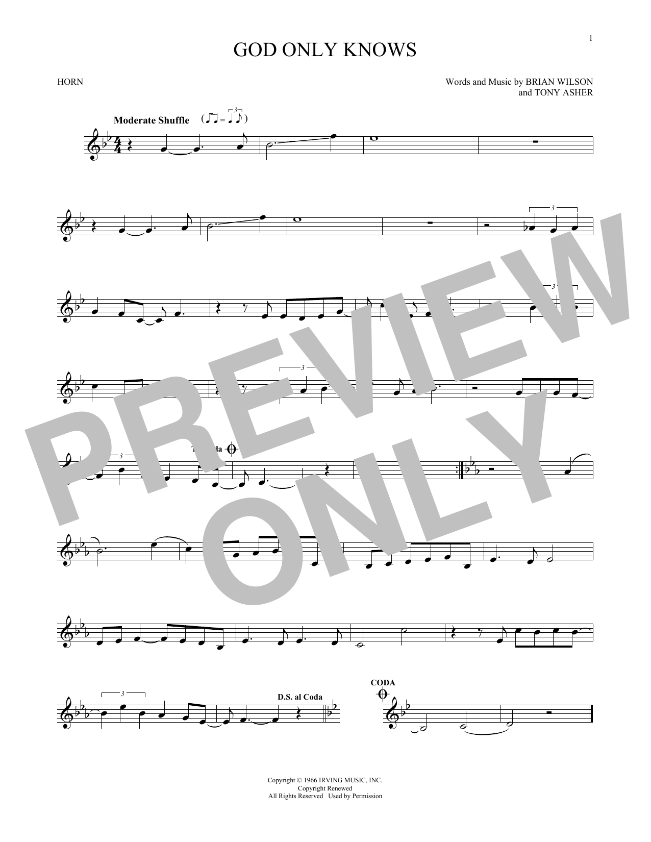 God Only Knows (French Horn Solo)