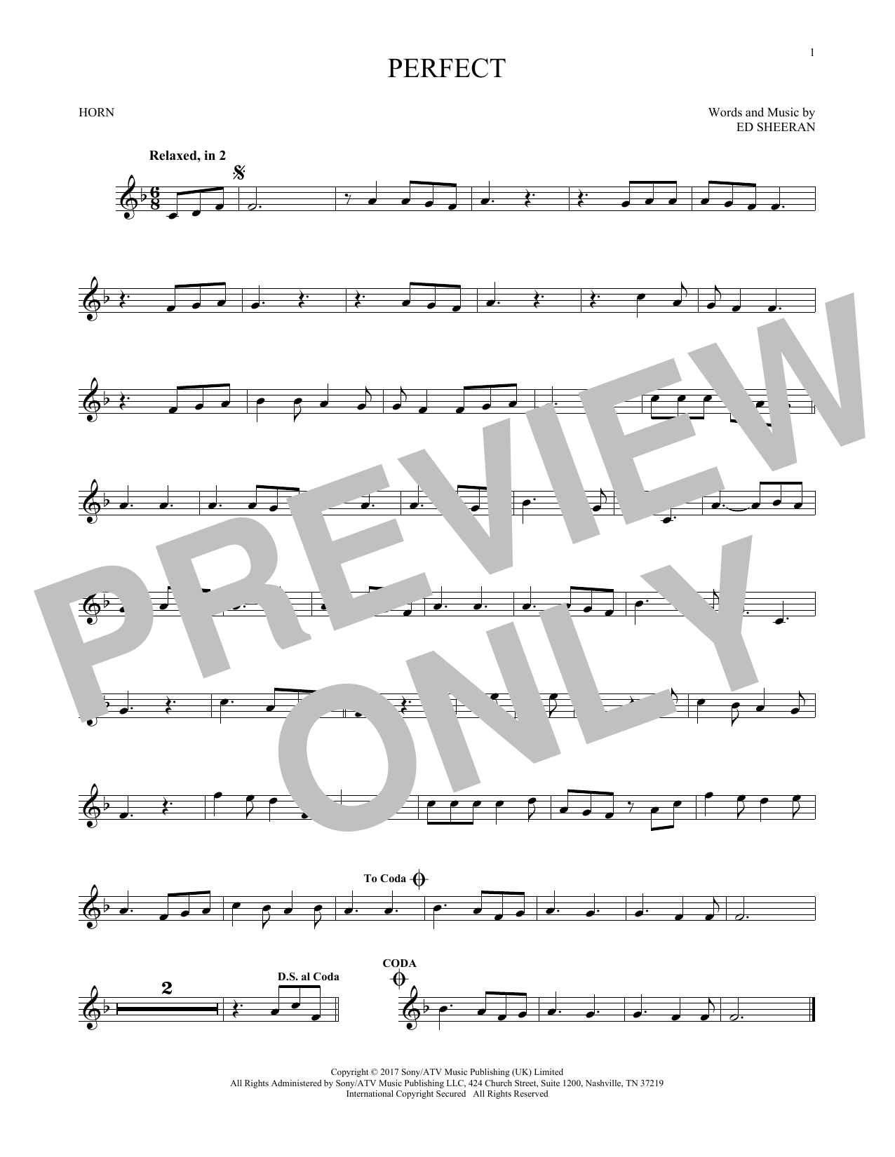 Perfect (French Horn Solo)