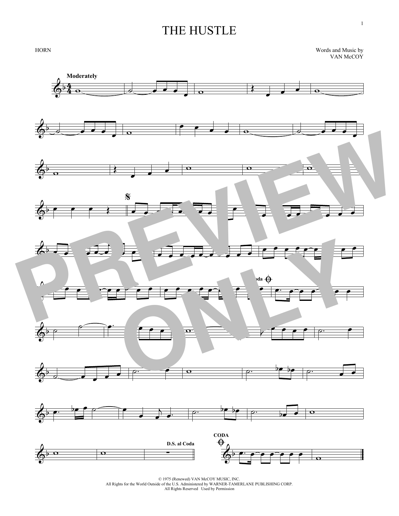The Hustle (French Horn Solo)