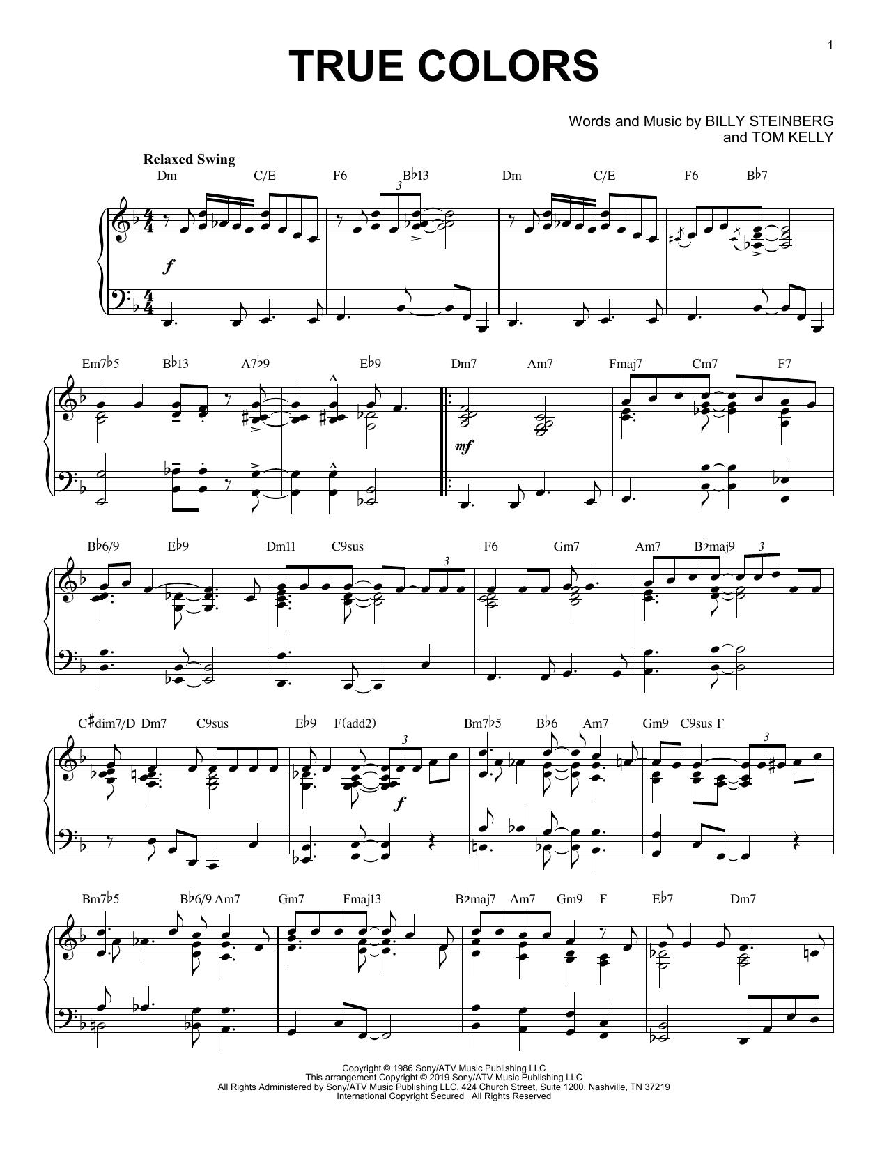True Colors [Jazz version] (Piano Solo)