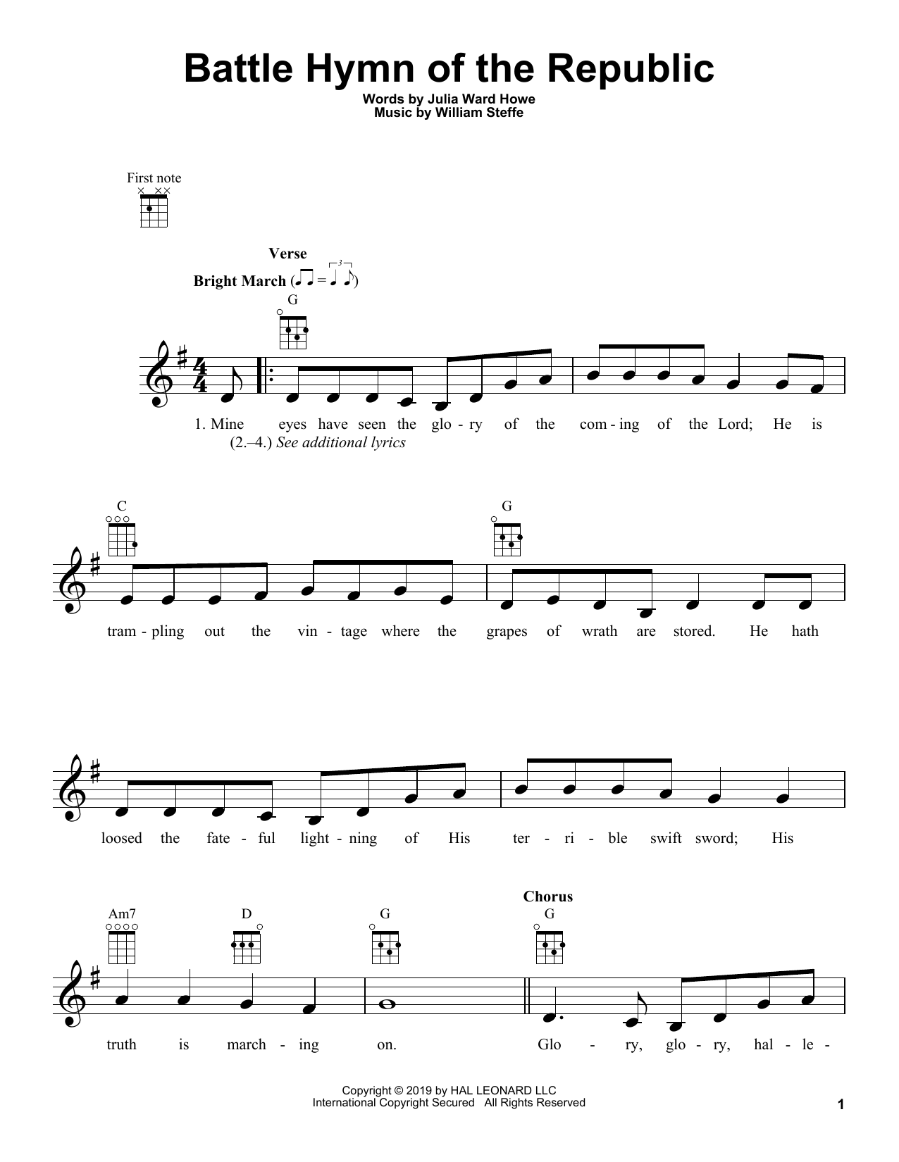 Battle Hymn Of The Republic (Ukulele)