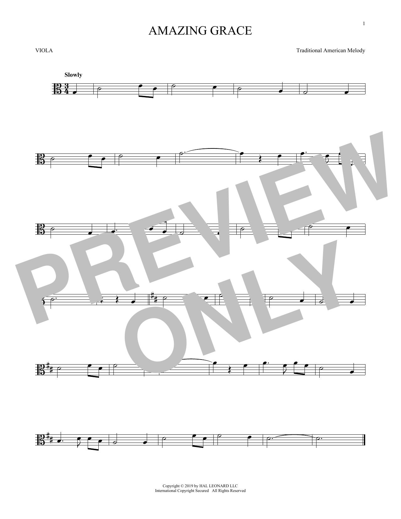 Amazing Grace (Viola Solo)