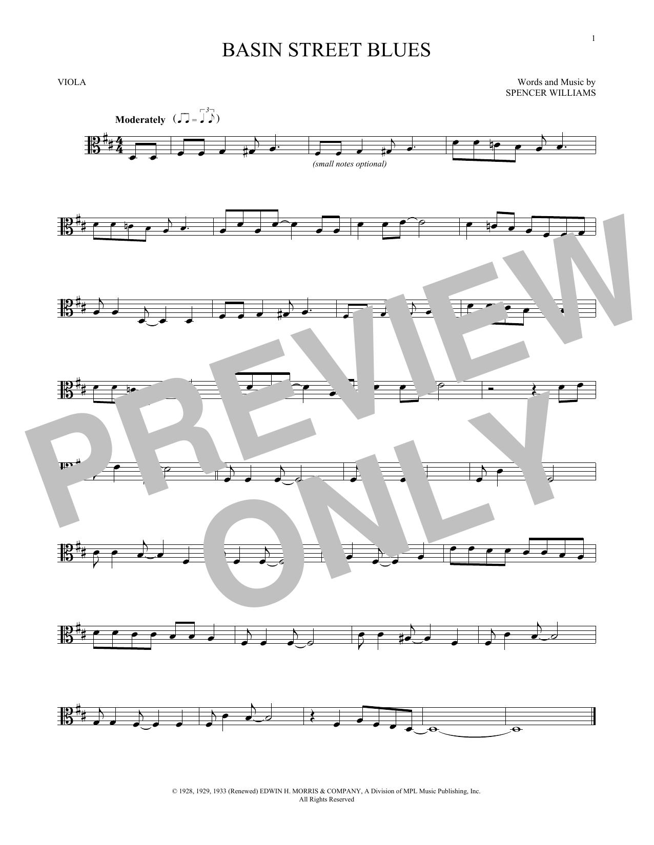 Basin Street Blues (Viola Solo)