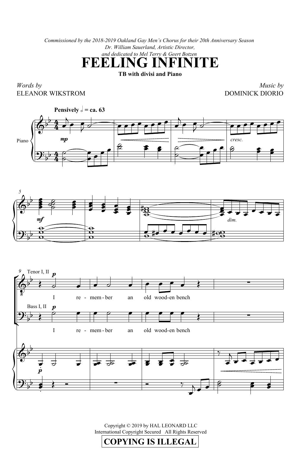 Feeling Infinite (TTBB Choir)