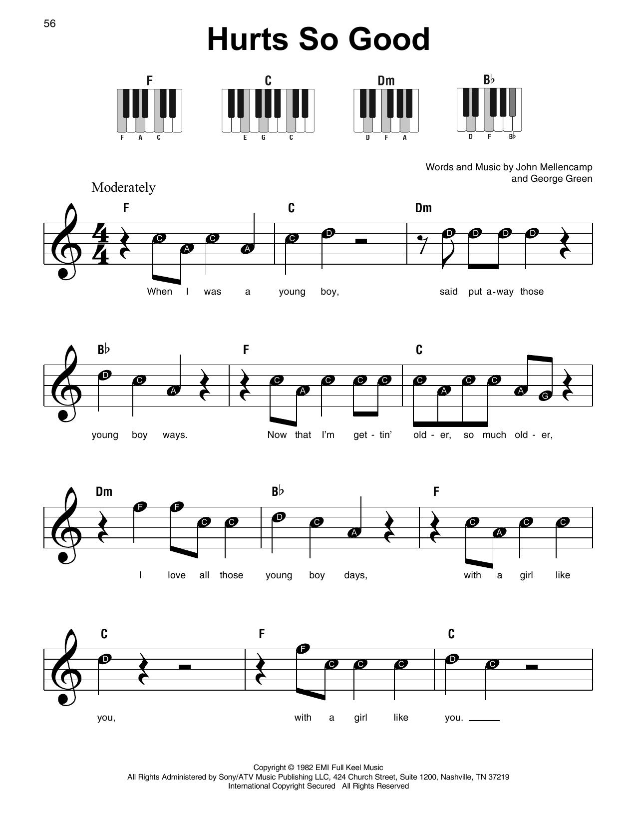 Hurts So Good (Super Easy Piano)