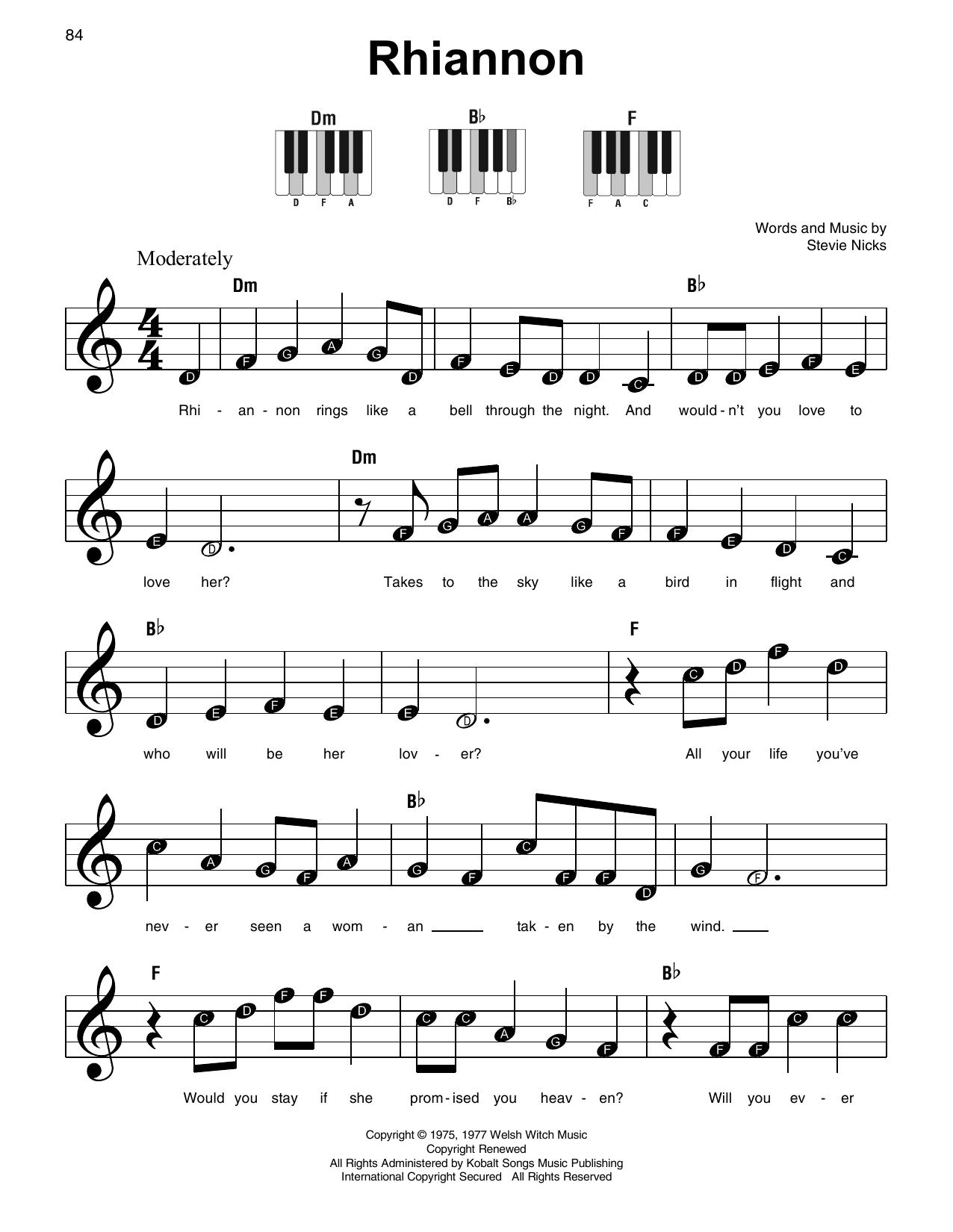 Rhiannon (Super Easy Piano)