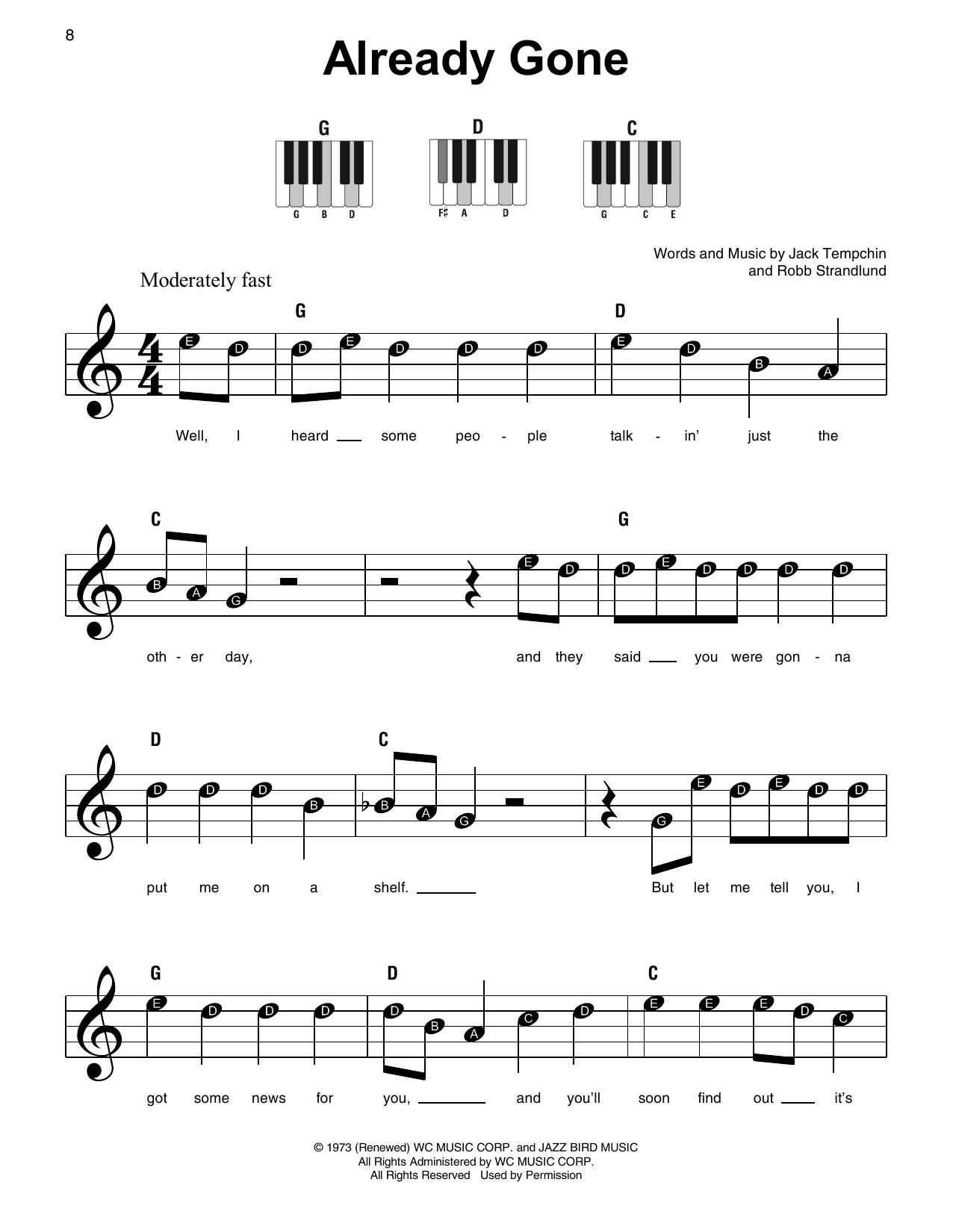 Already Gone (Super Easy Piano)