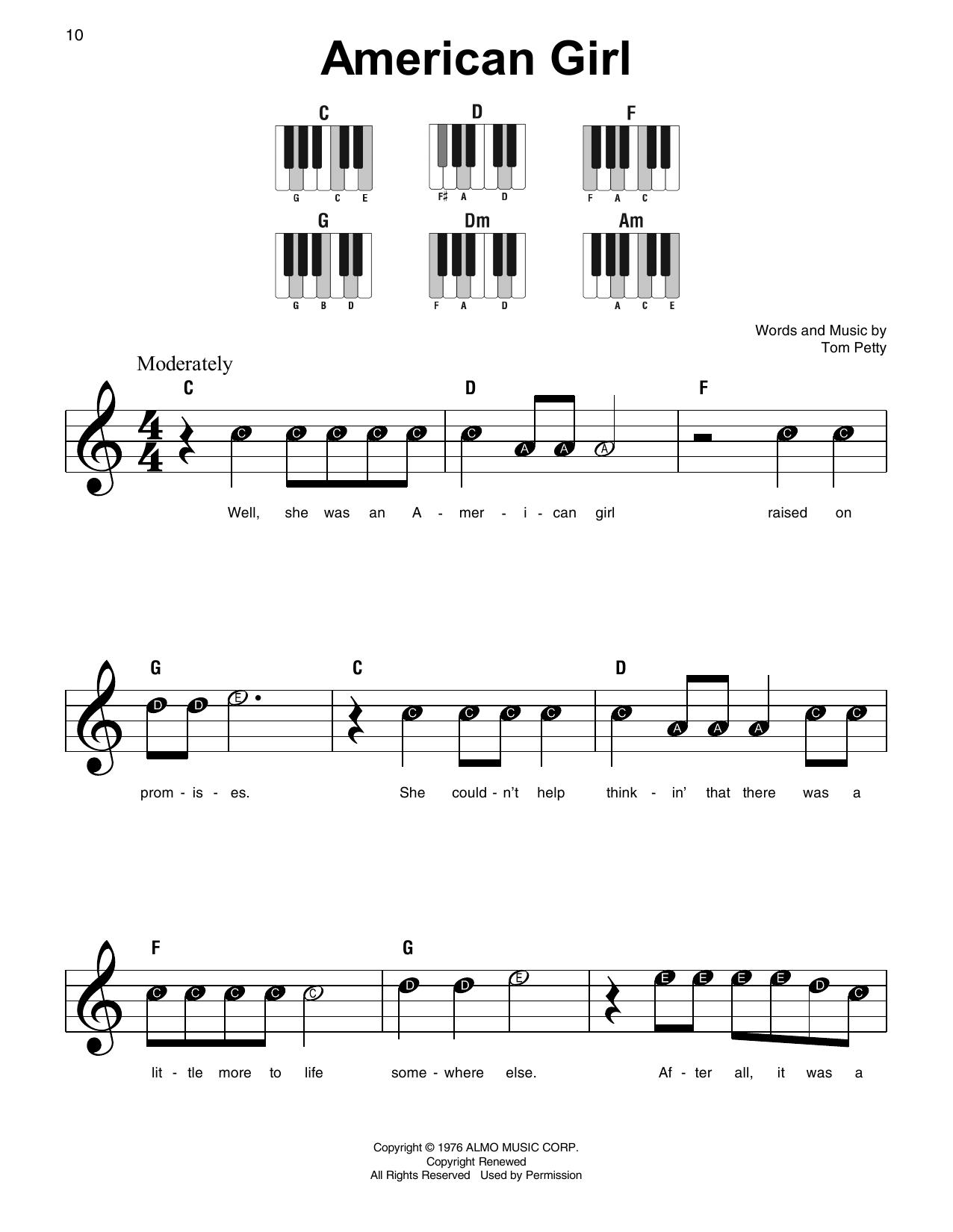 American Girl (Super Easy Piano)