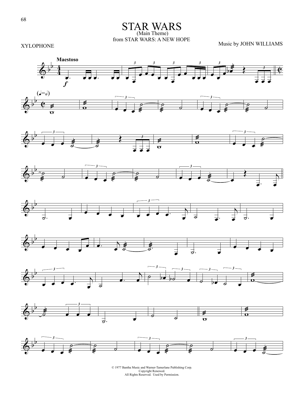 Star Wars (Main Theme) (Xylophone Solo)