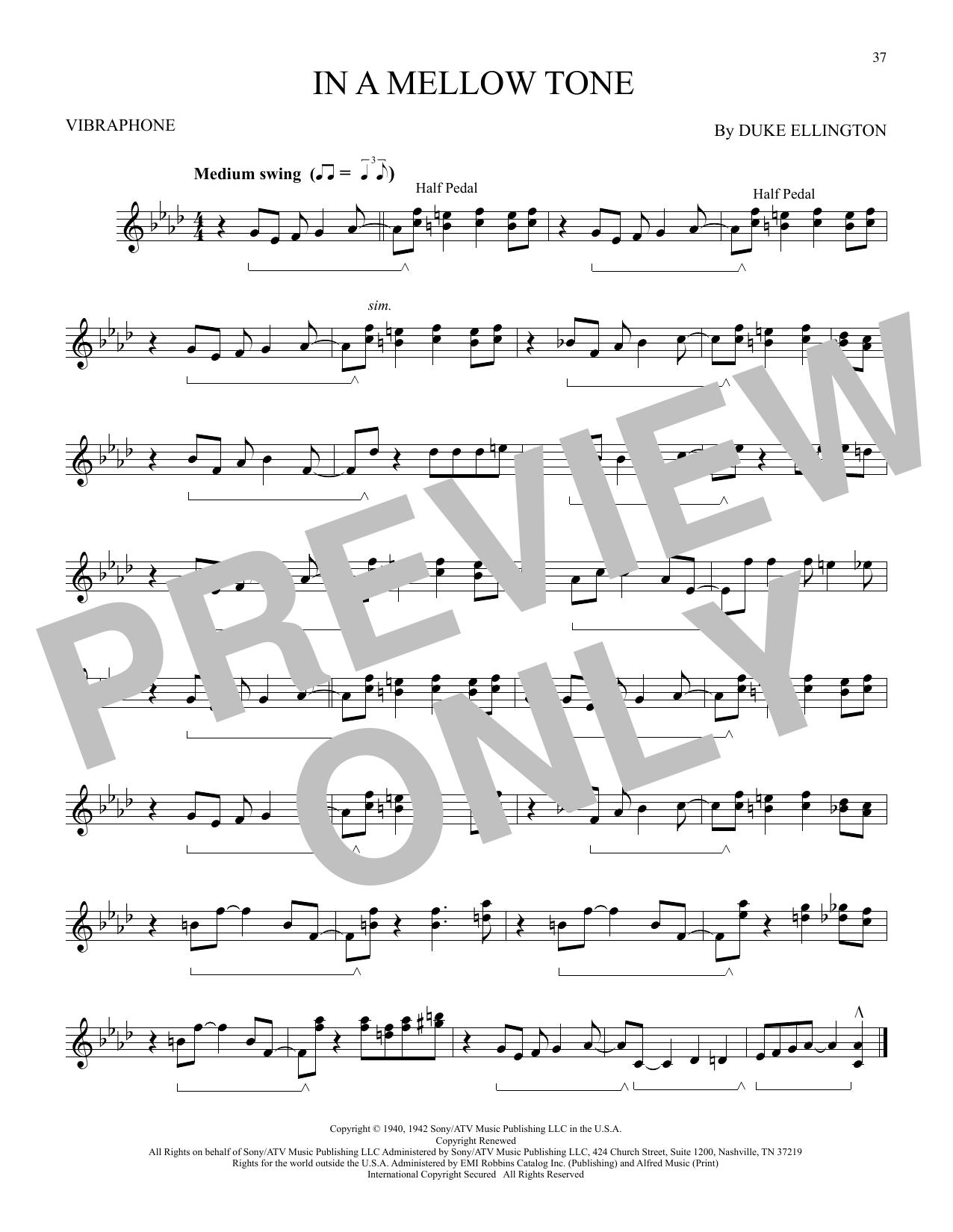 In A Mellow Tone (Vibraphone Solo)