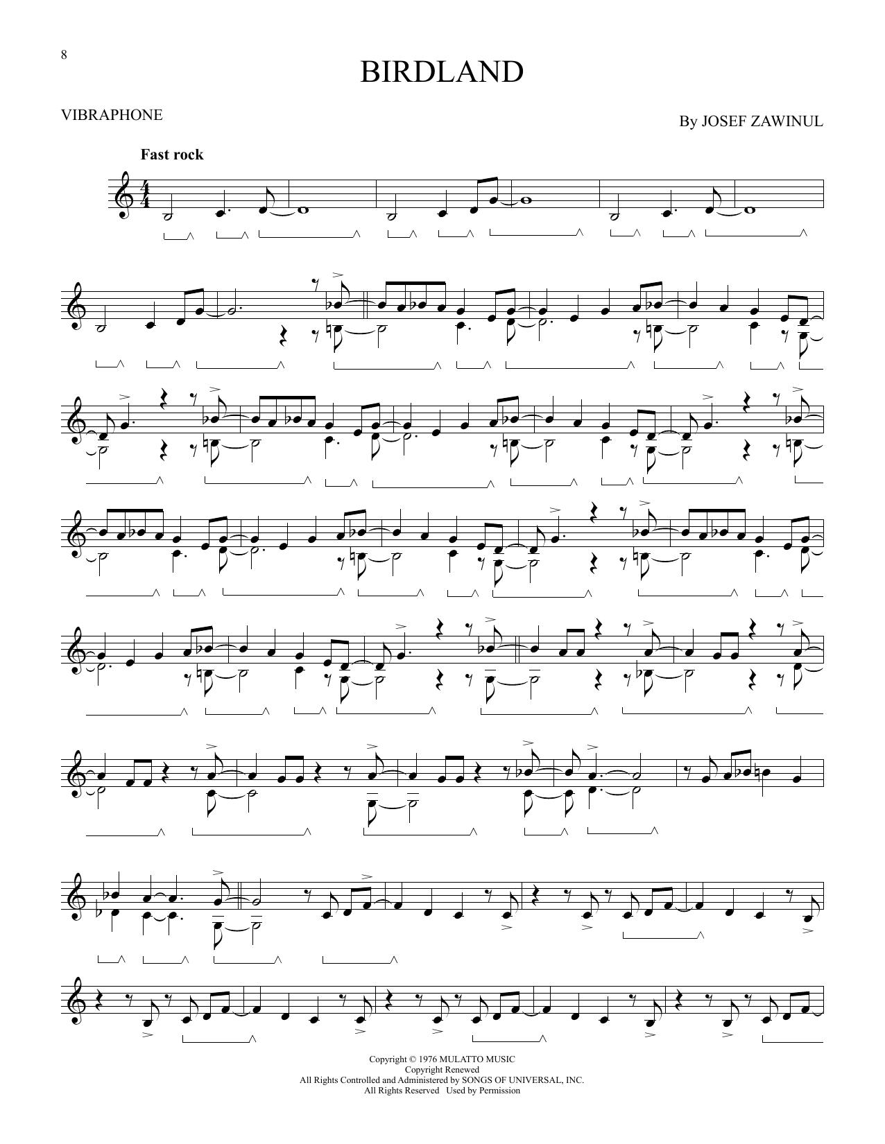 Birdland (Vibraphone Solo)