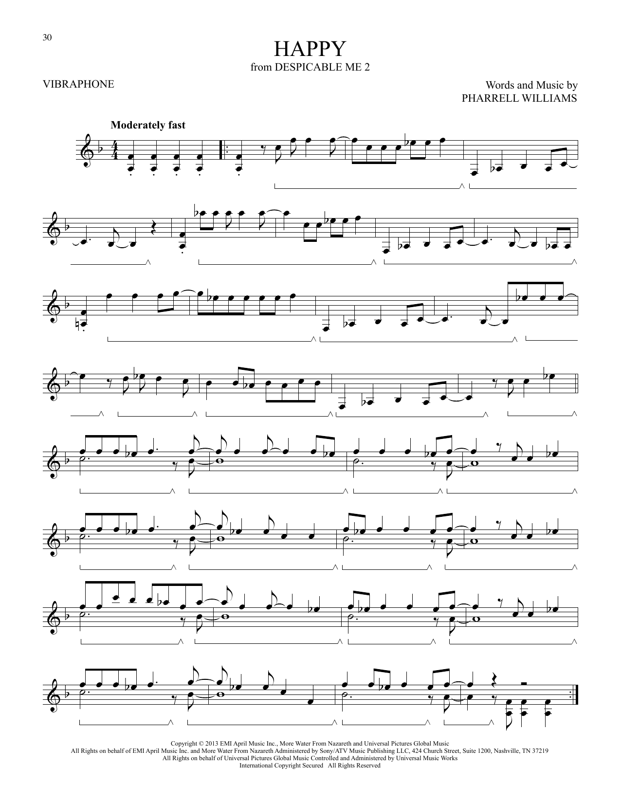 Happy (from Despicable Me 2) (Vibraphone Solo)