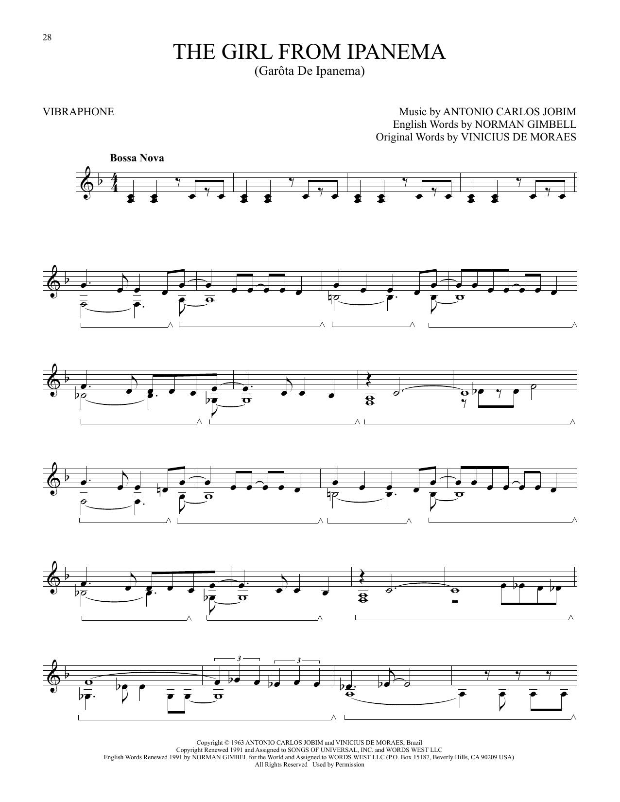 The Girl From Ipanema (Garota De Ipanema) (Vibraphone Solo)
