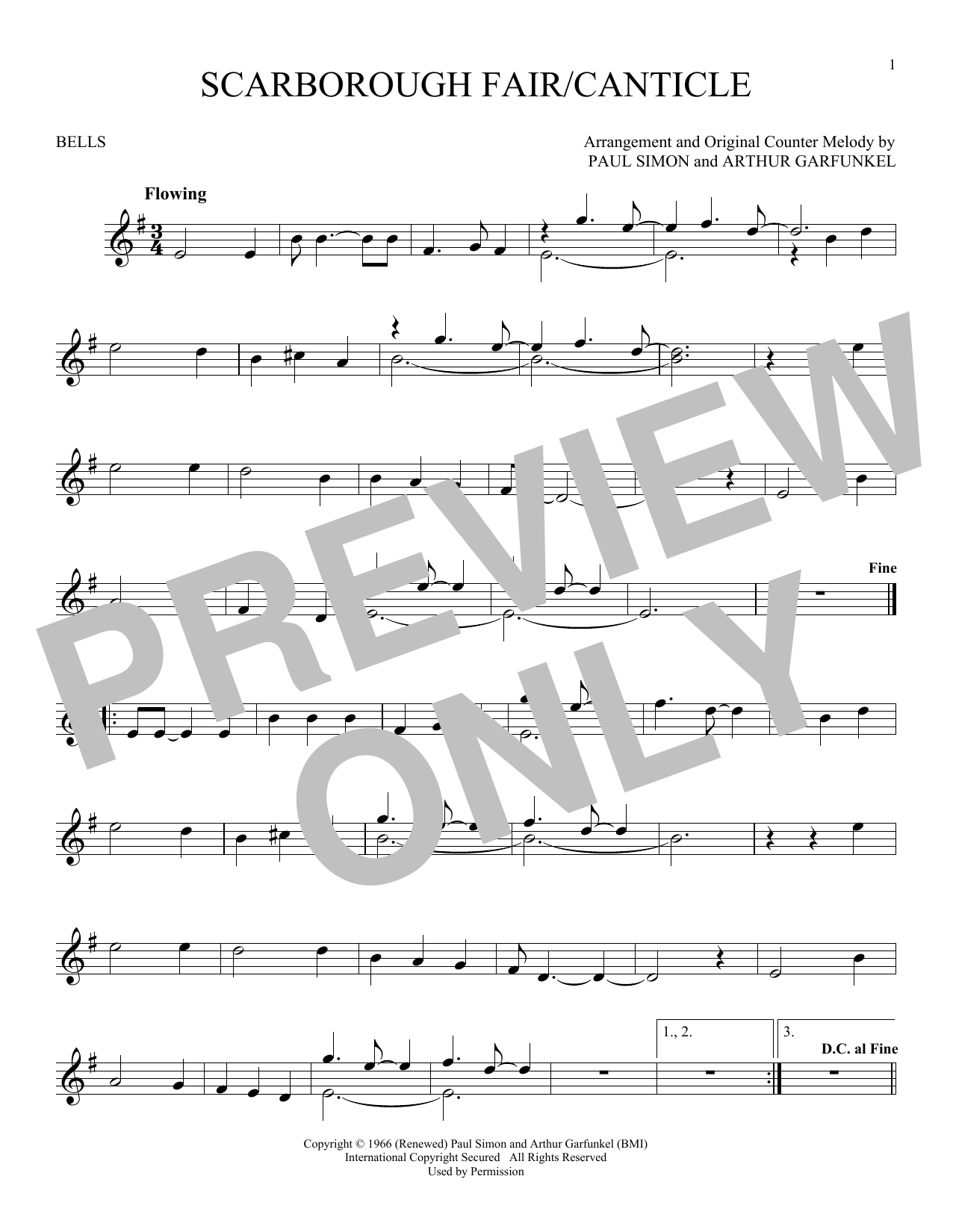 Scarborough Fair/Canticle (Bells Solo)