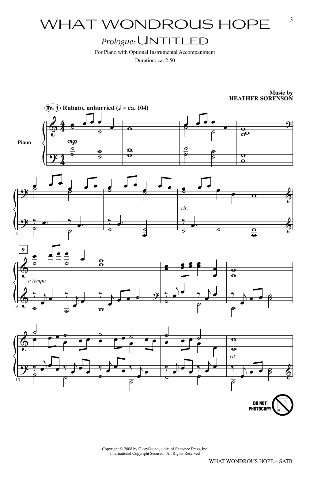 What Wondrous Hope (A Service of Promise, Grace and Life) (SATB Choir)