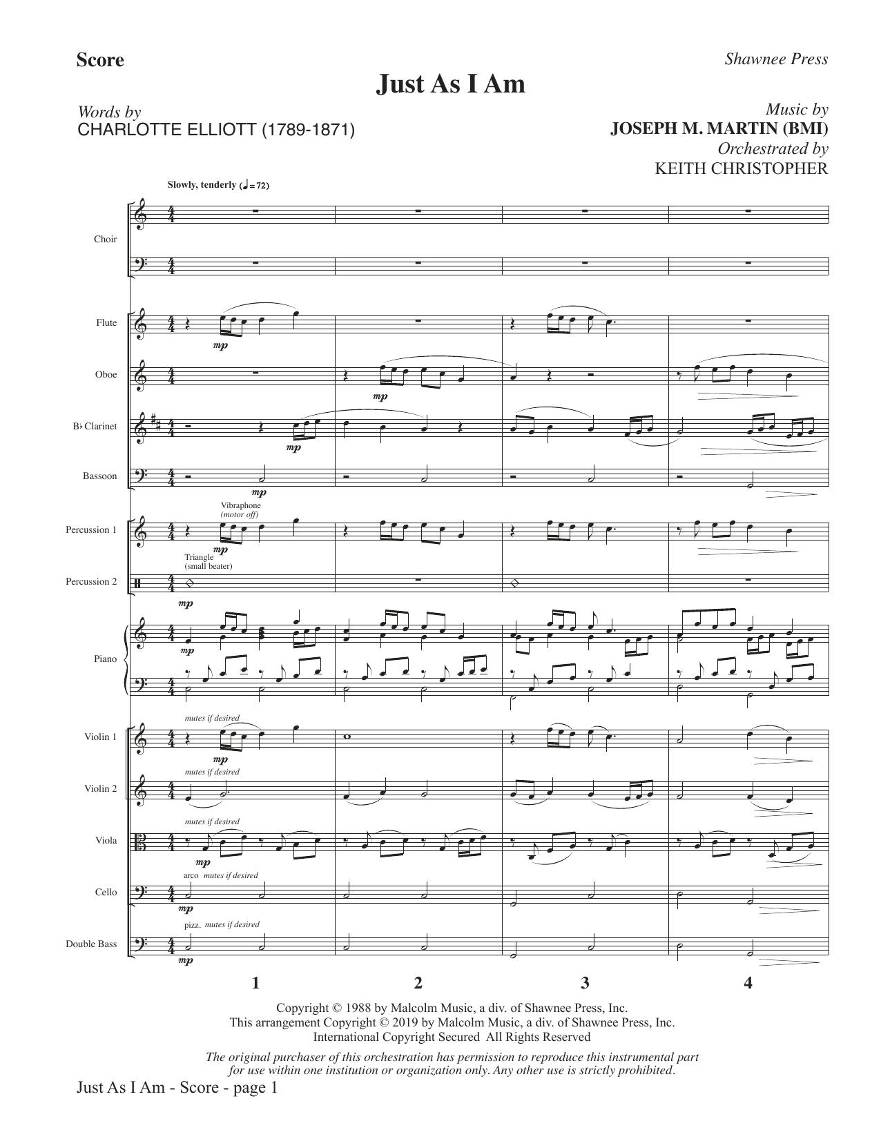 Just As I Am - Full Score (Choir Instrumental Pak)