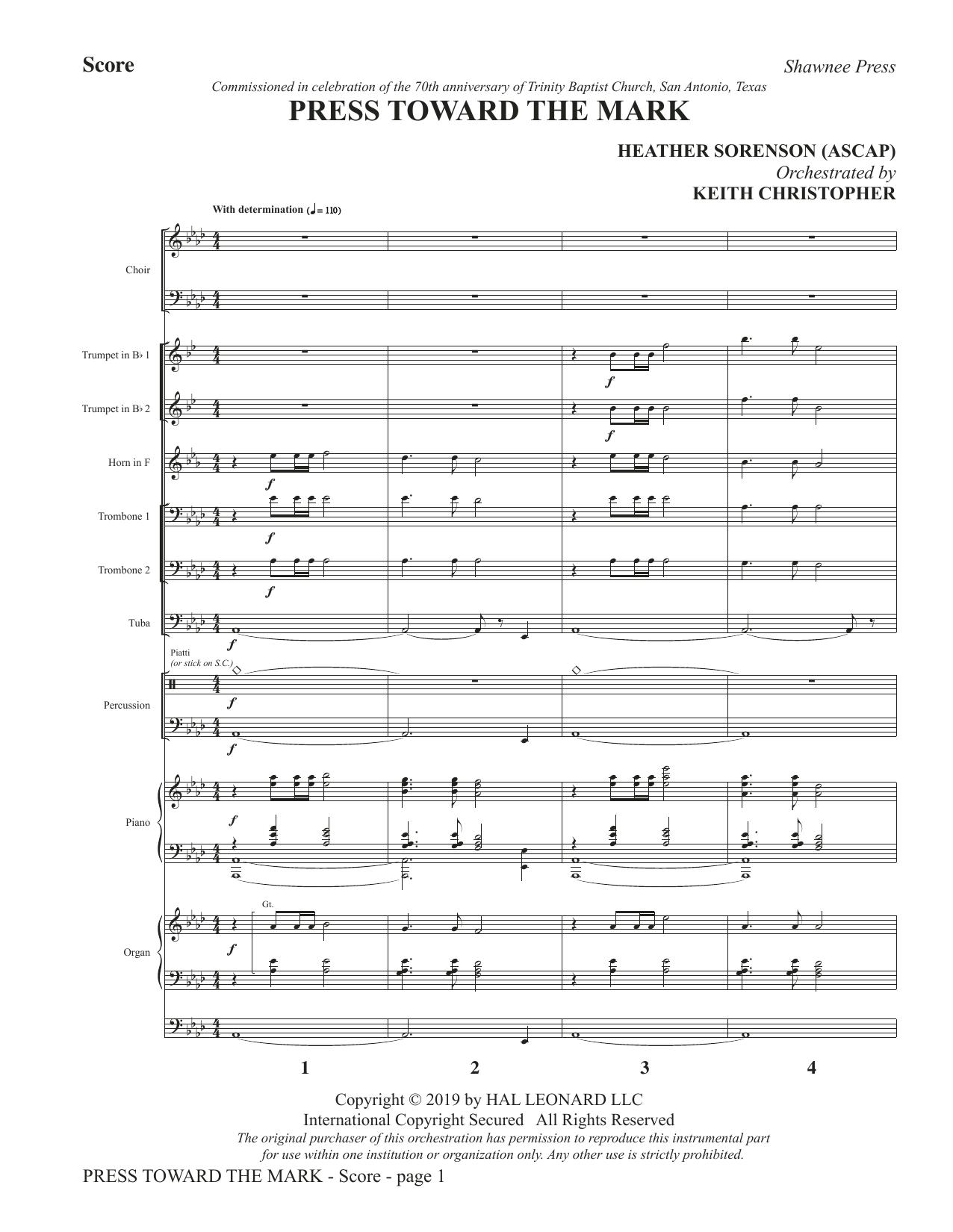 Press Toward the Mark - Full Score (Choir Instrumental Pak)